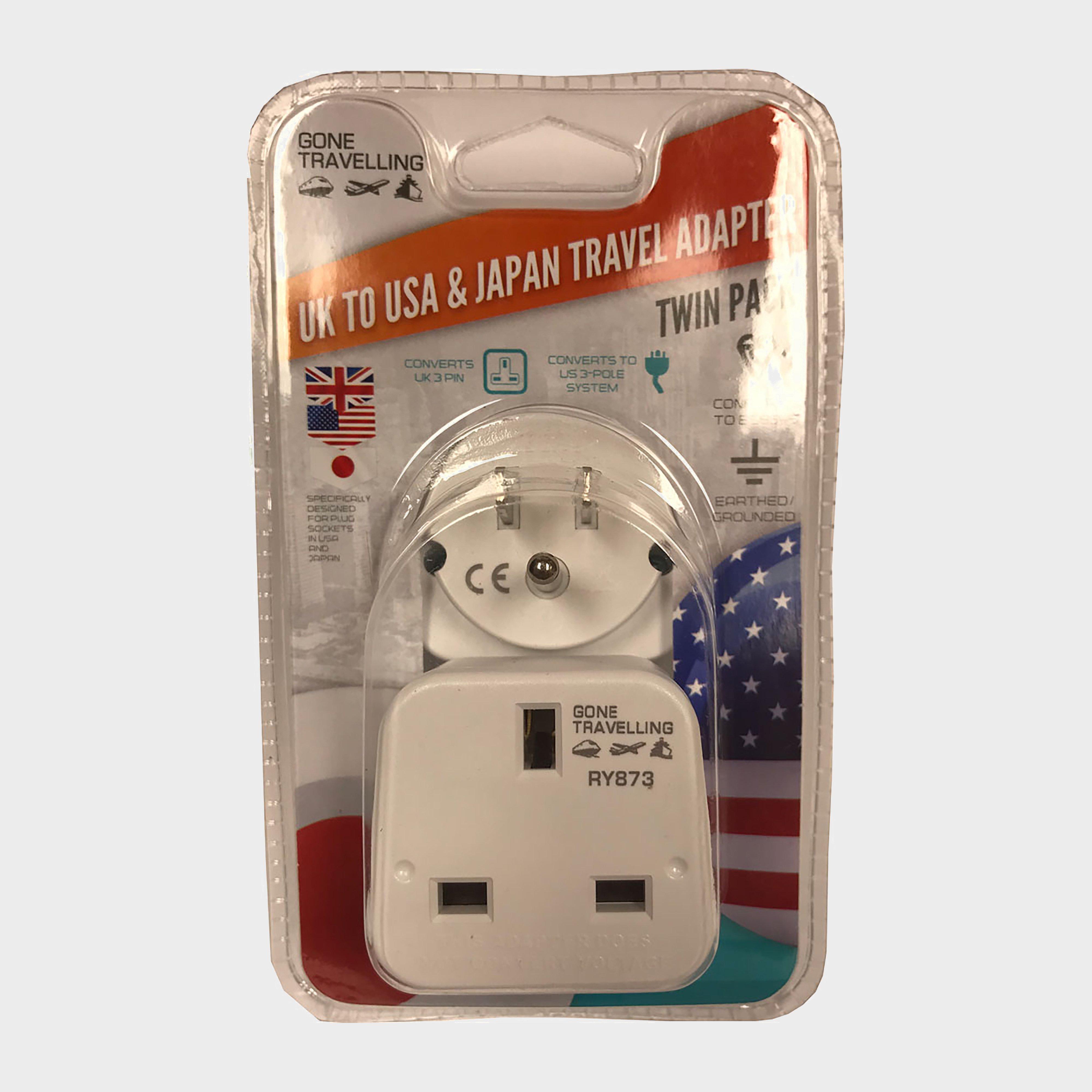 Boyz Toys 2pk Travel Adaptor Usa - White/as  White/as