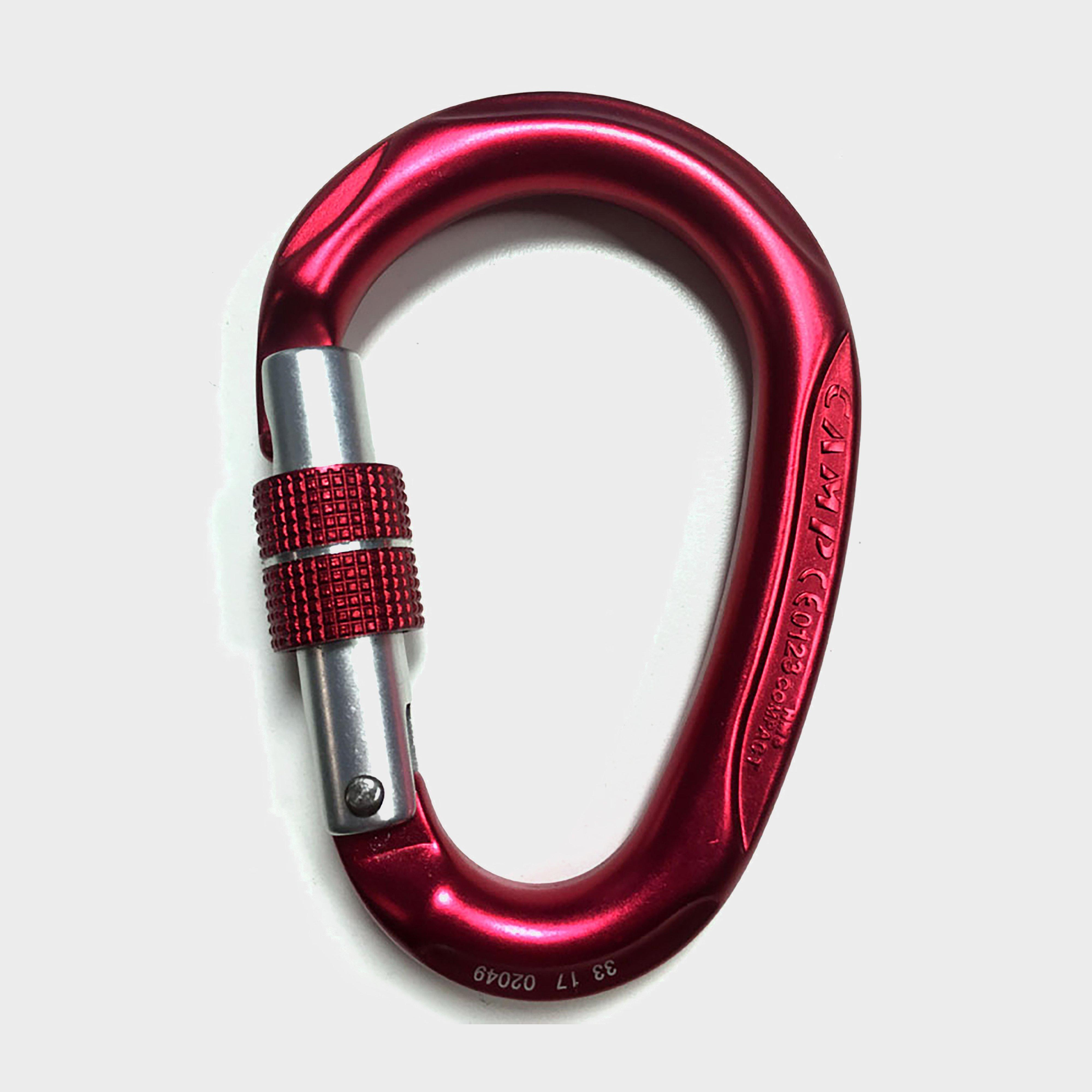 Camp Hms Compact Lock Carabiner - Red/screwgate  Red/screwgate