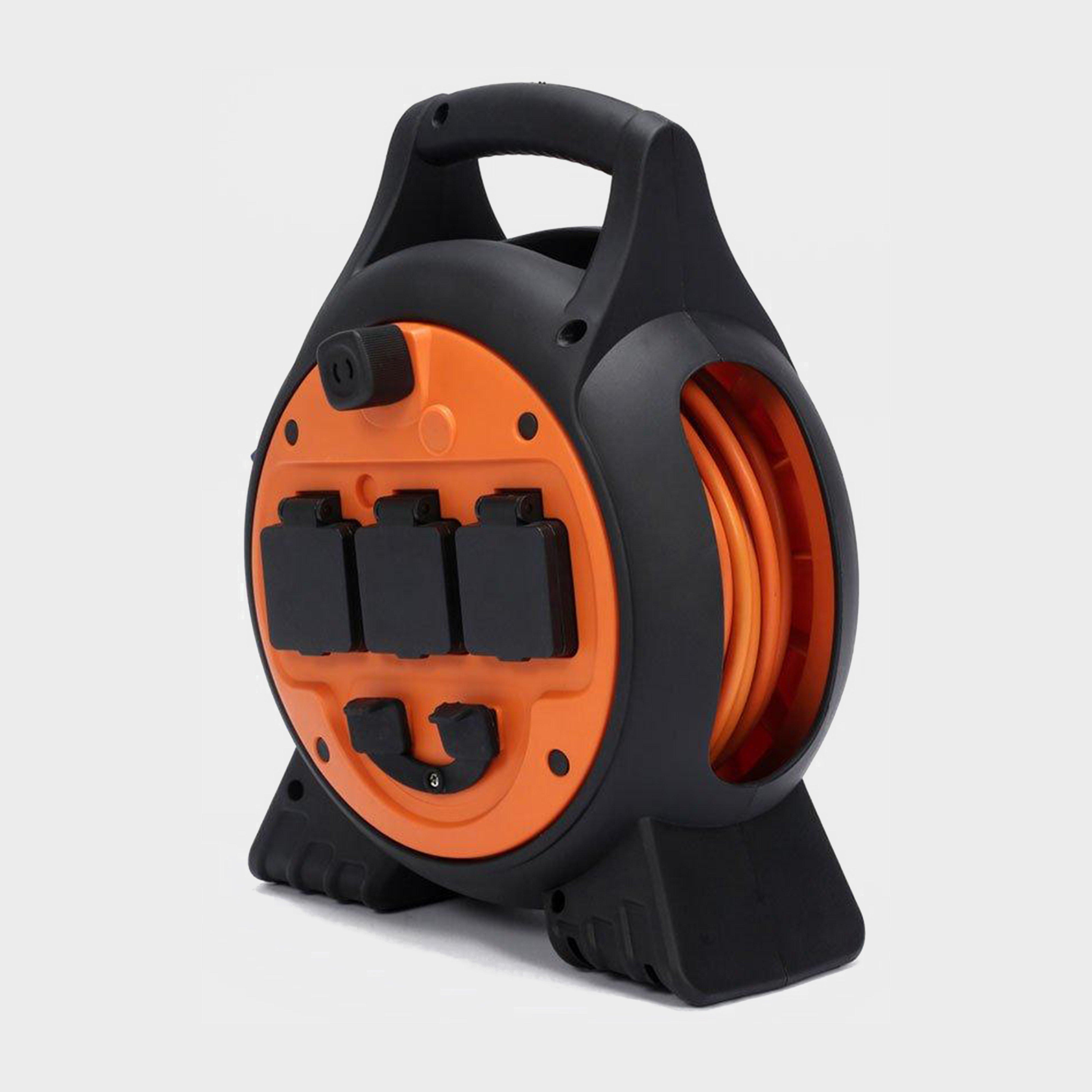 Hi-gear 3way Mobile Mains Reel - Orange/black  Orange/black