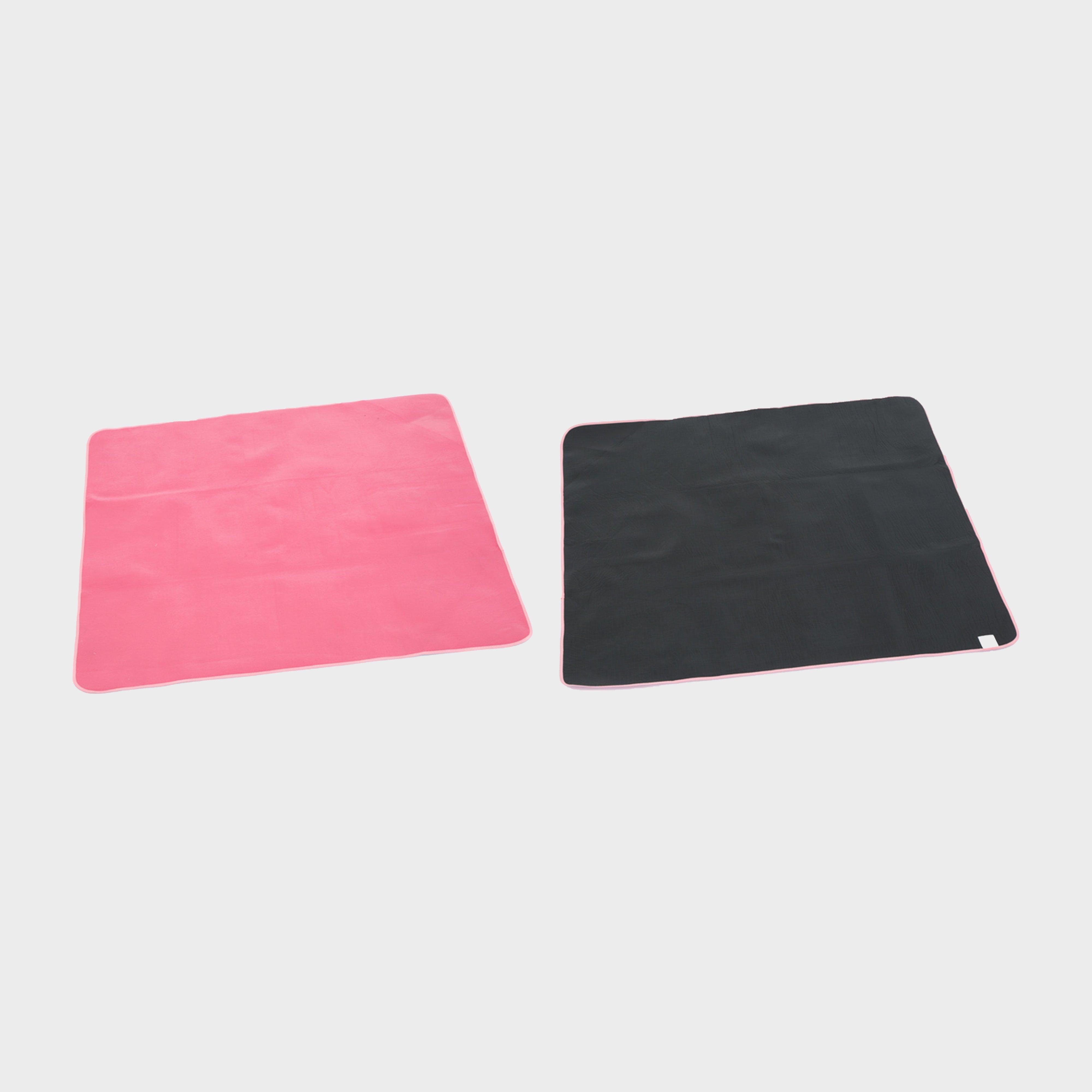 Freedomtrail Carson Fleece Picnic Blanket - Pink/black  Pink/black