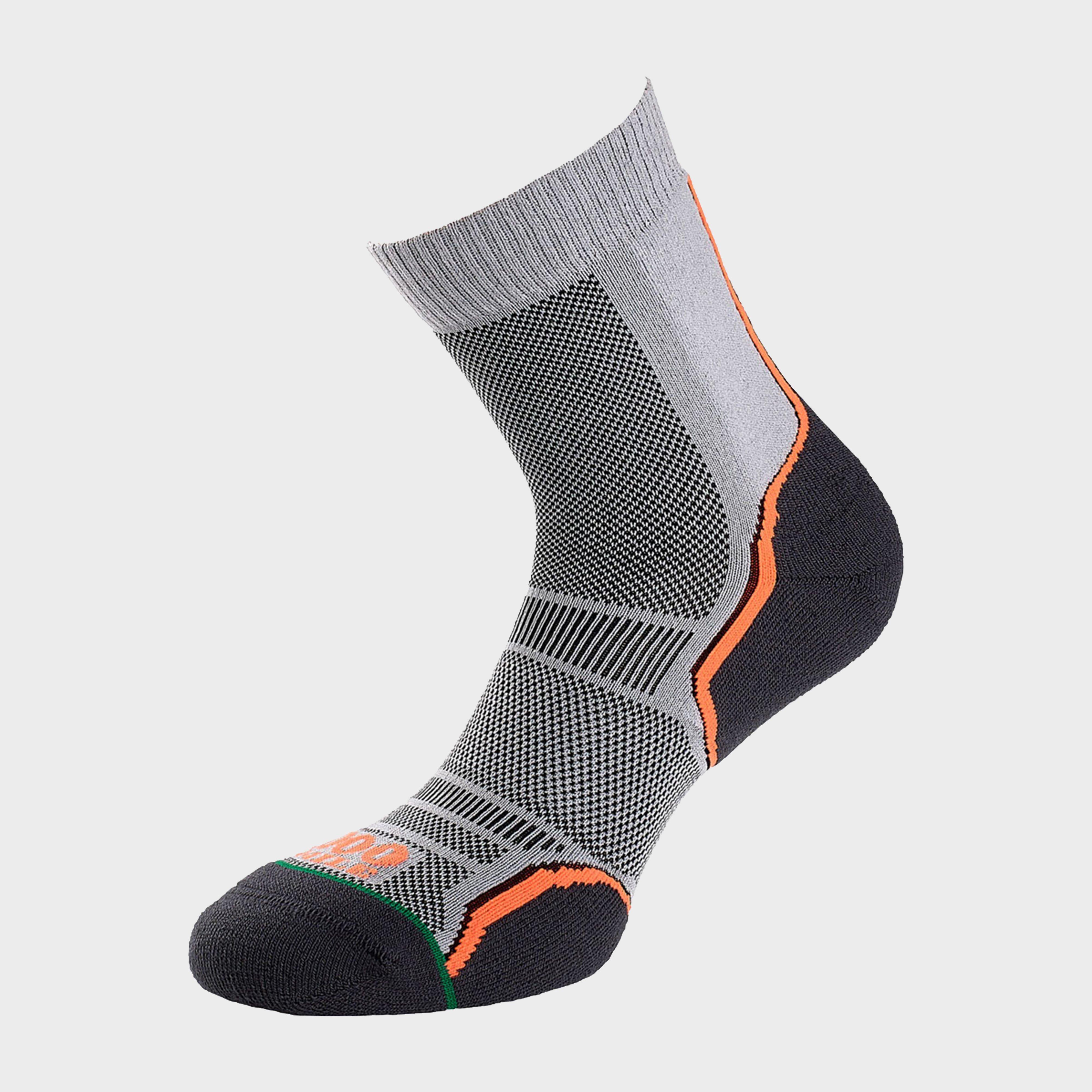 1000 Mile Mens Trail Sock (twin Pack) - Grey/pack  Grey/pack