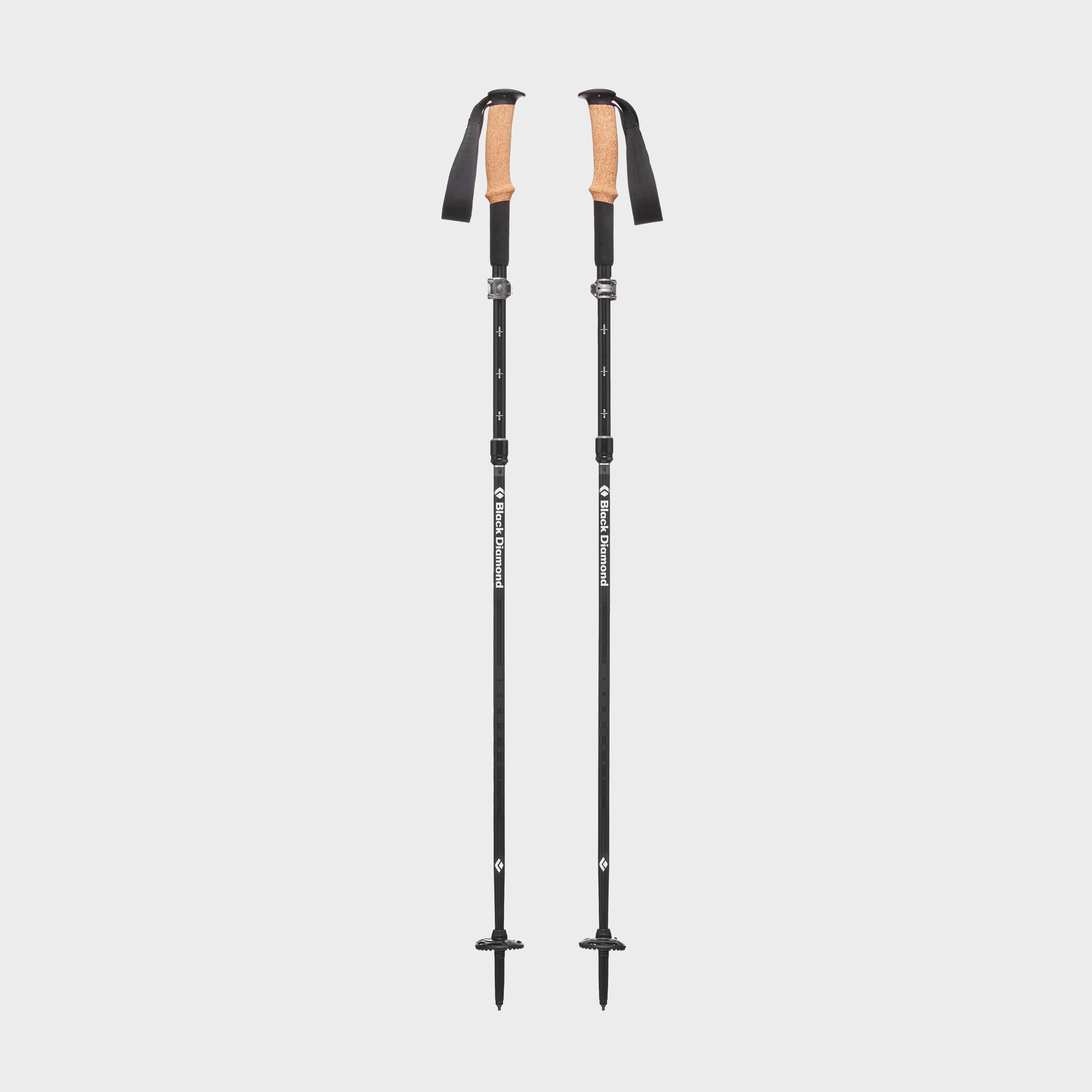 Black Diamond Alpine Flz Trekking Poles (105-125cm) - Black/105-12  Black/105-12