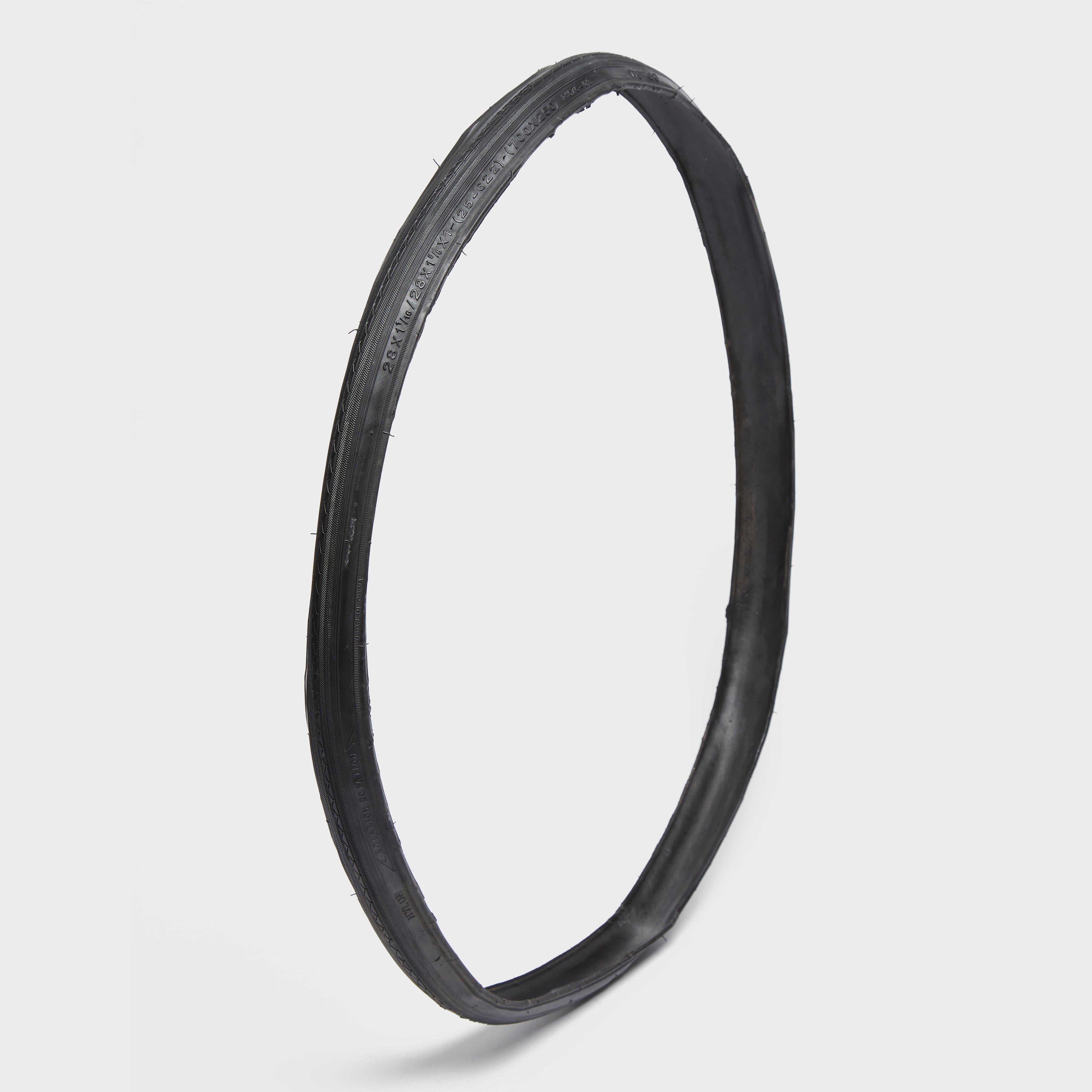 One23 700 X 25 Folding Road Bike Tyre - Black/road  Black/road