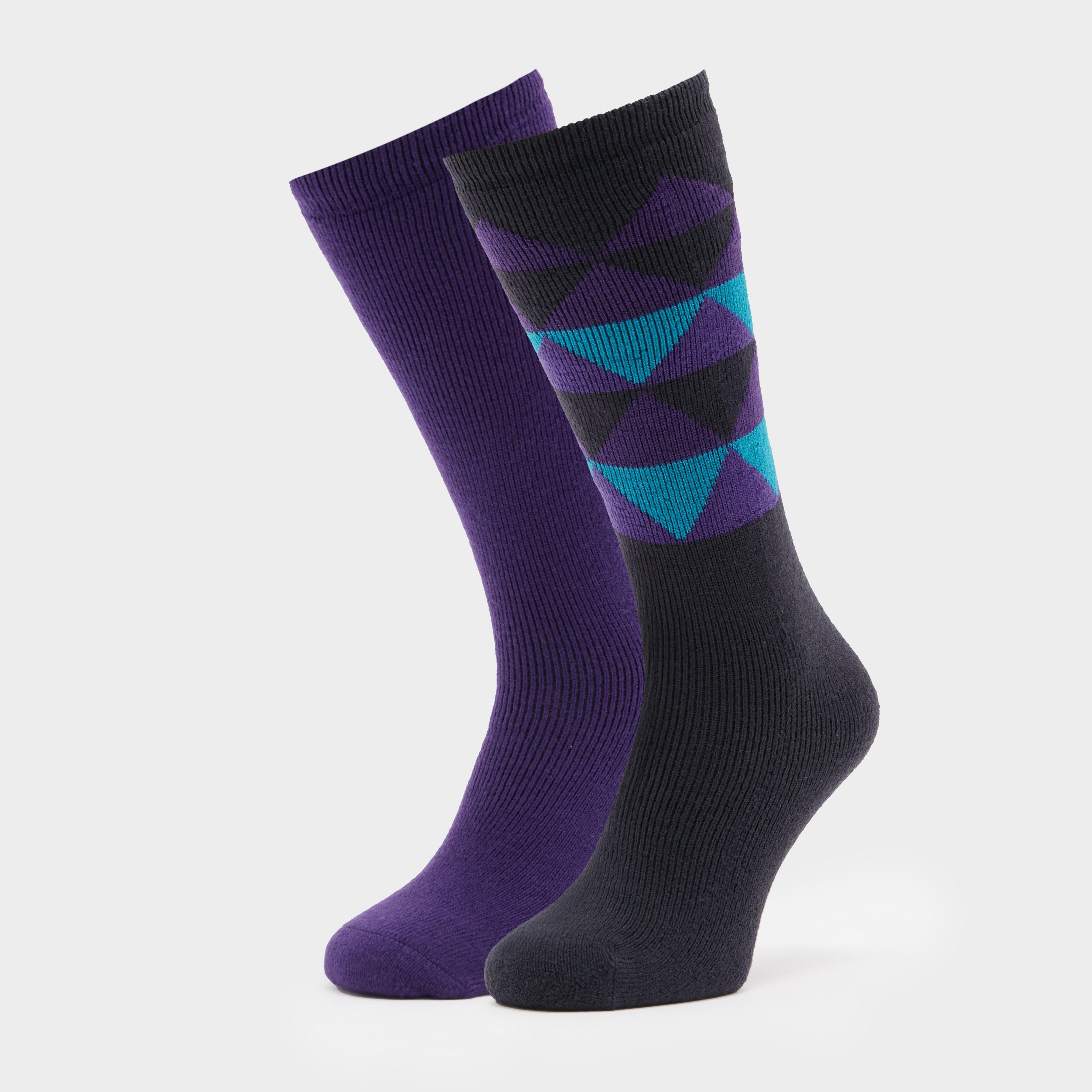 The Edge Womens Oslo Socks (twin Pack) - Multi/socks  Multi/socks