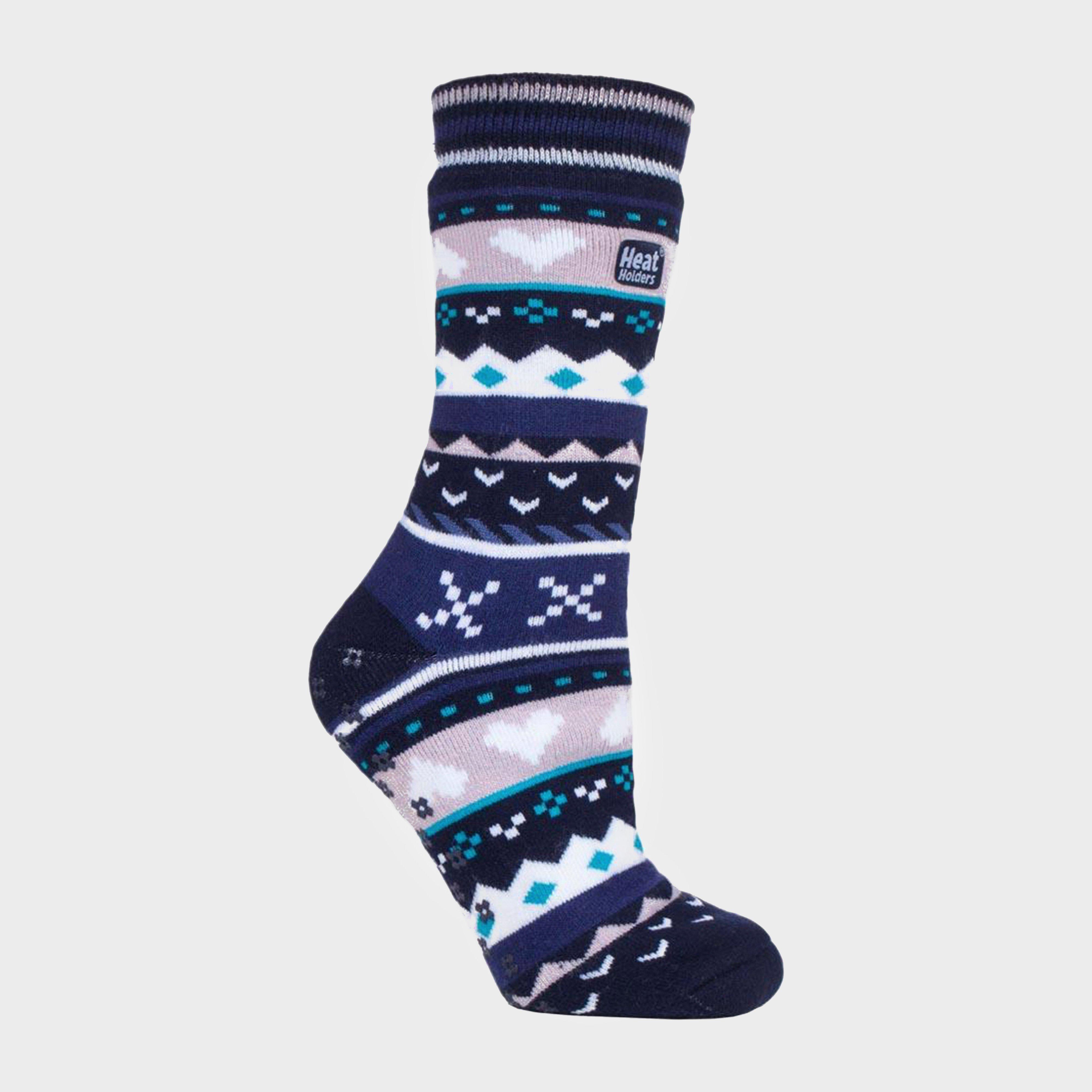 Heat Holders Women's SOUL WARMING Dual Layer Slipper Socks, Blue