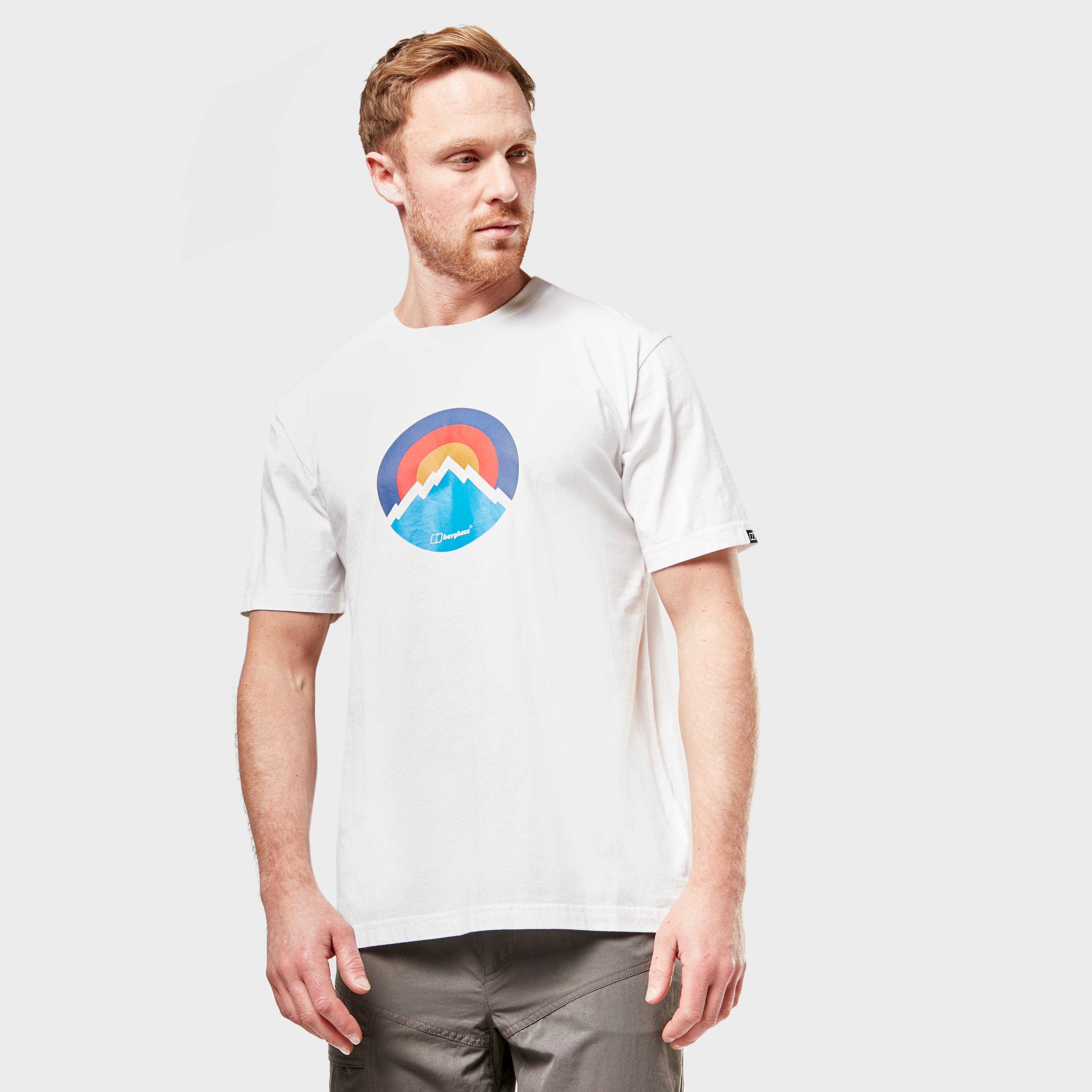Berghaus Mens Modern Mountain Logo T-shirt - White/wht  White/wht