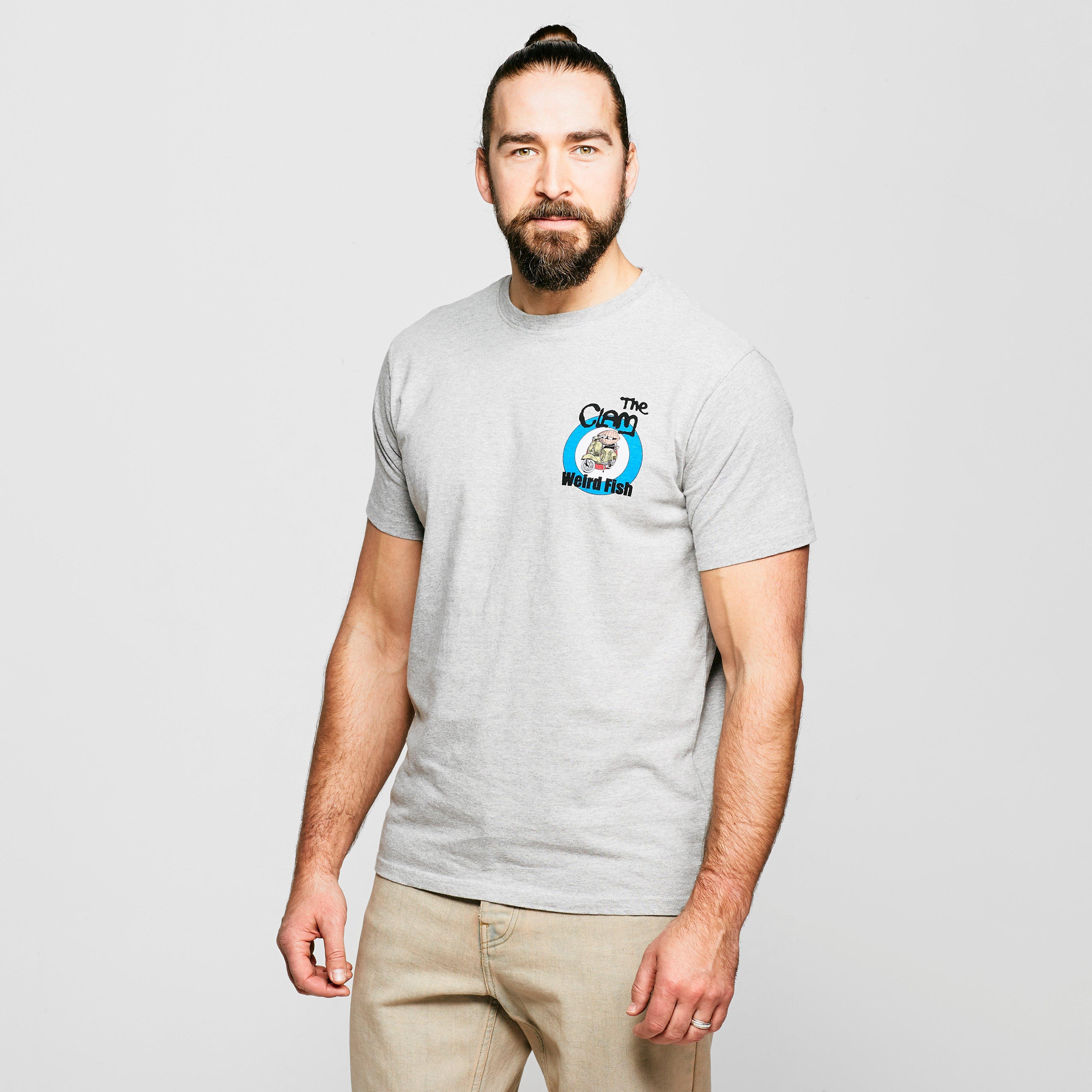 Weird Fish Mens The Clam Artist T-shirt - Grey/gry  Grey/gry
