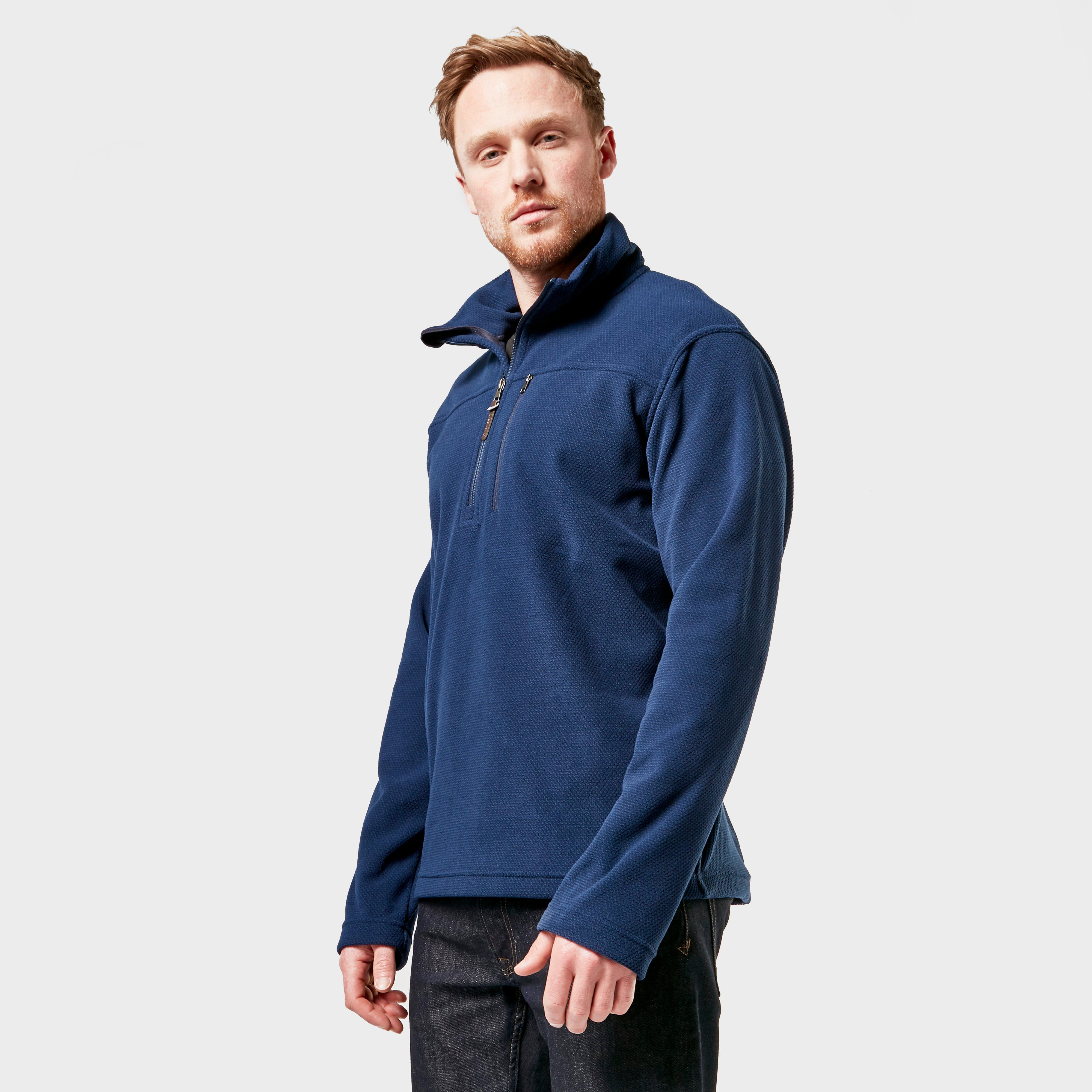 Brasher Mens Fountains Half Zip Fleece - Navy/nvy  Navy/nvy