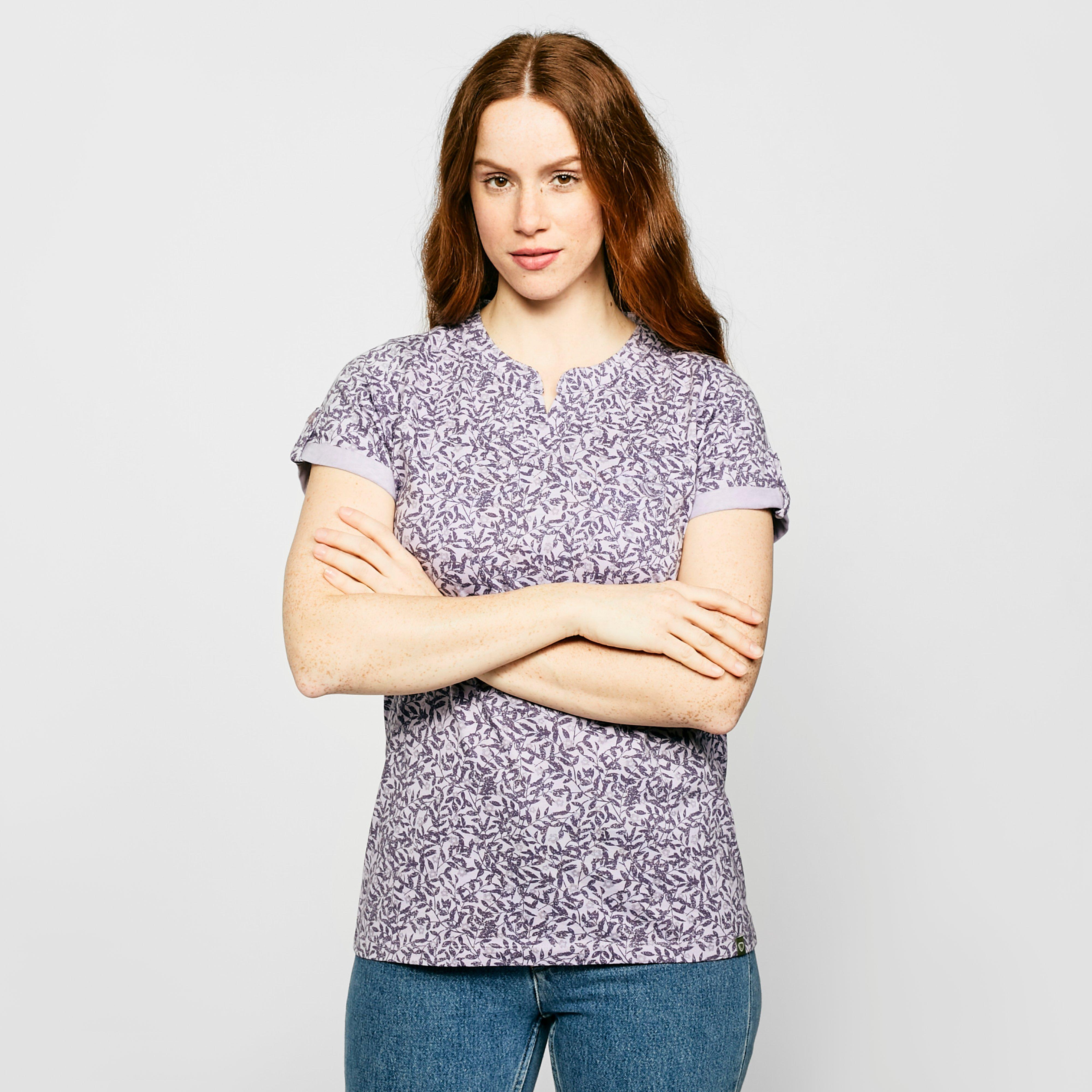 Brasher Women's AOP Print T-Shirt, Purple