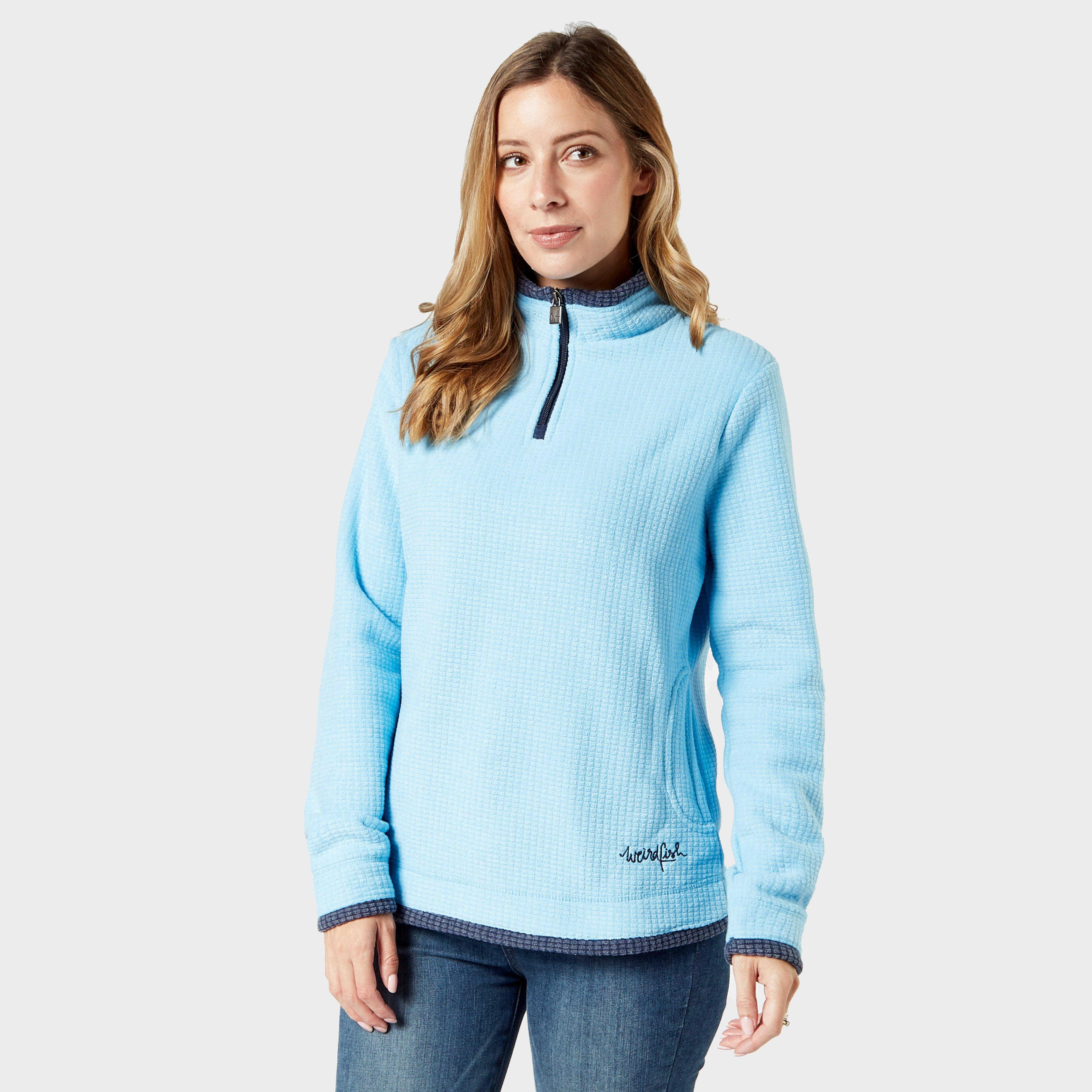 Weird Fish Women's Beyond Quarter-Zip Fleece, Blue