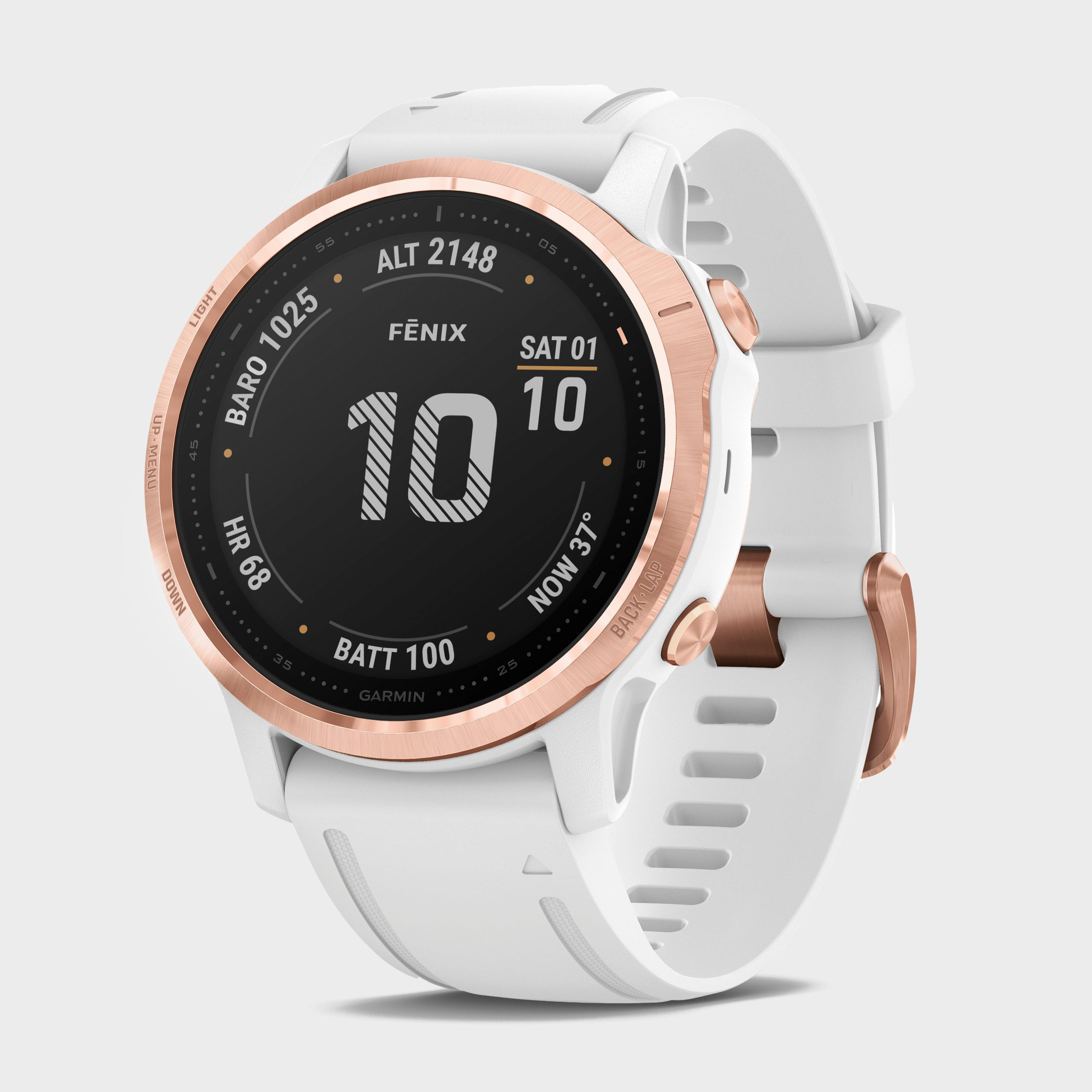 Garmin Fēnix 6S Pro Multi-Sport Gps Watch - White/Wht, White/WHT