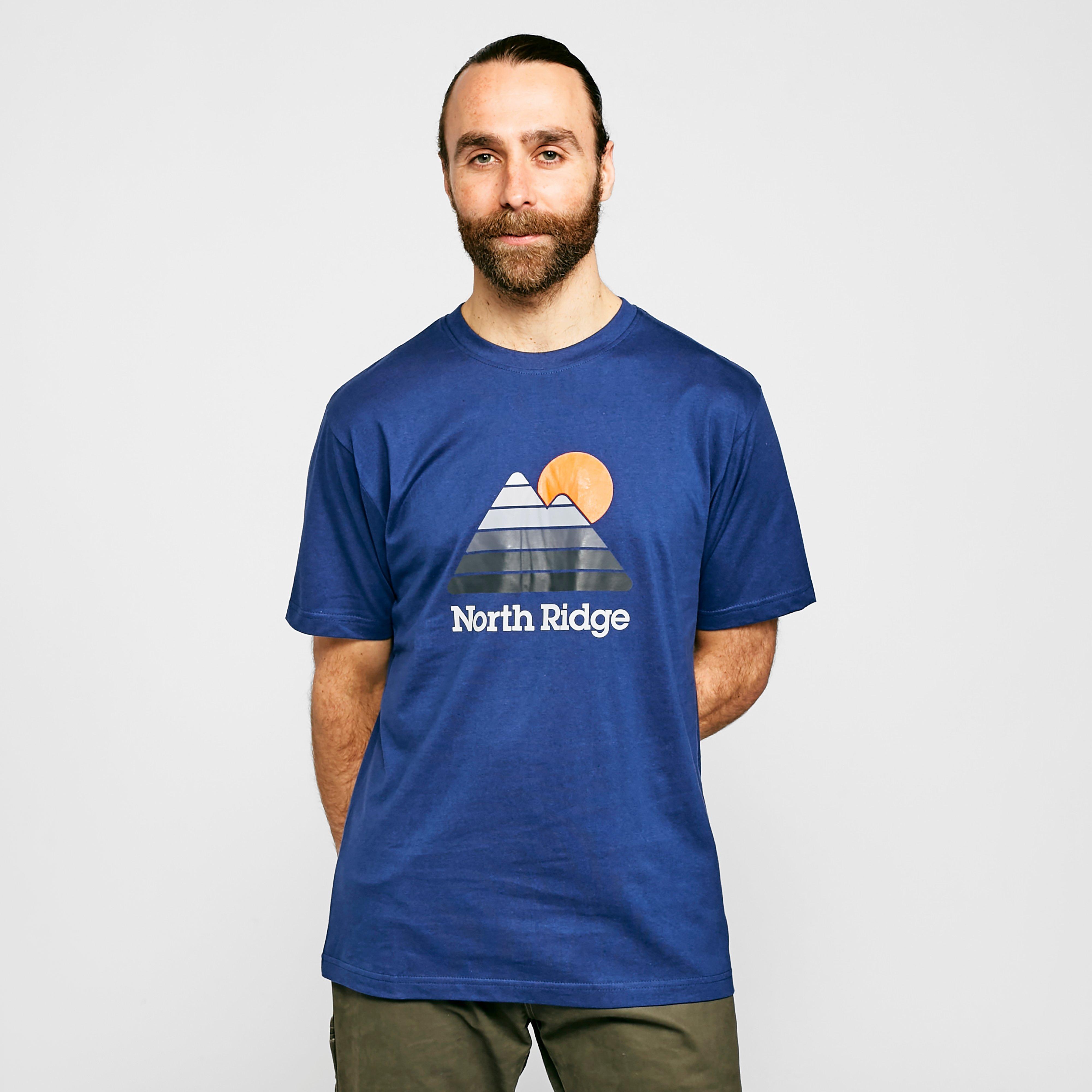 North Ridge Mens 90s T-shirt - Blue/nvy  Blue/nvy