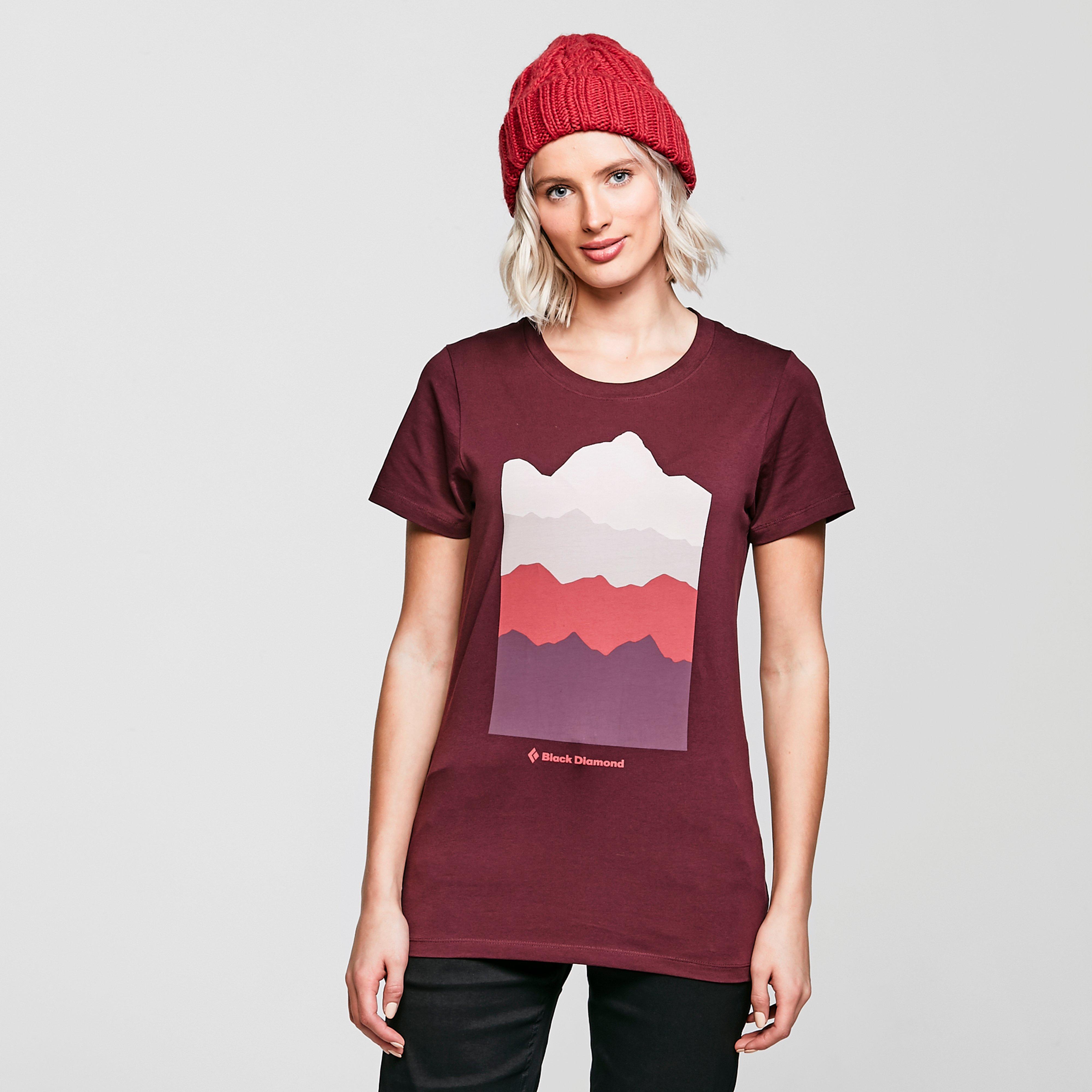 Black Diamond Womens Vista T-shirt - Red/bur  Red/bur