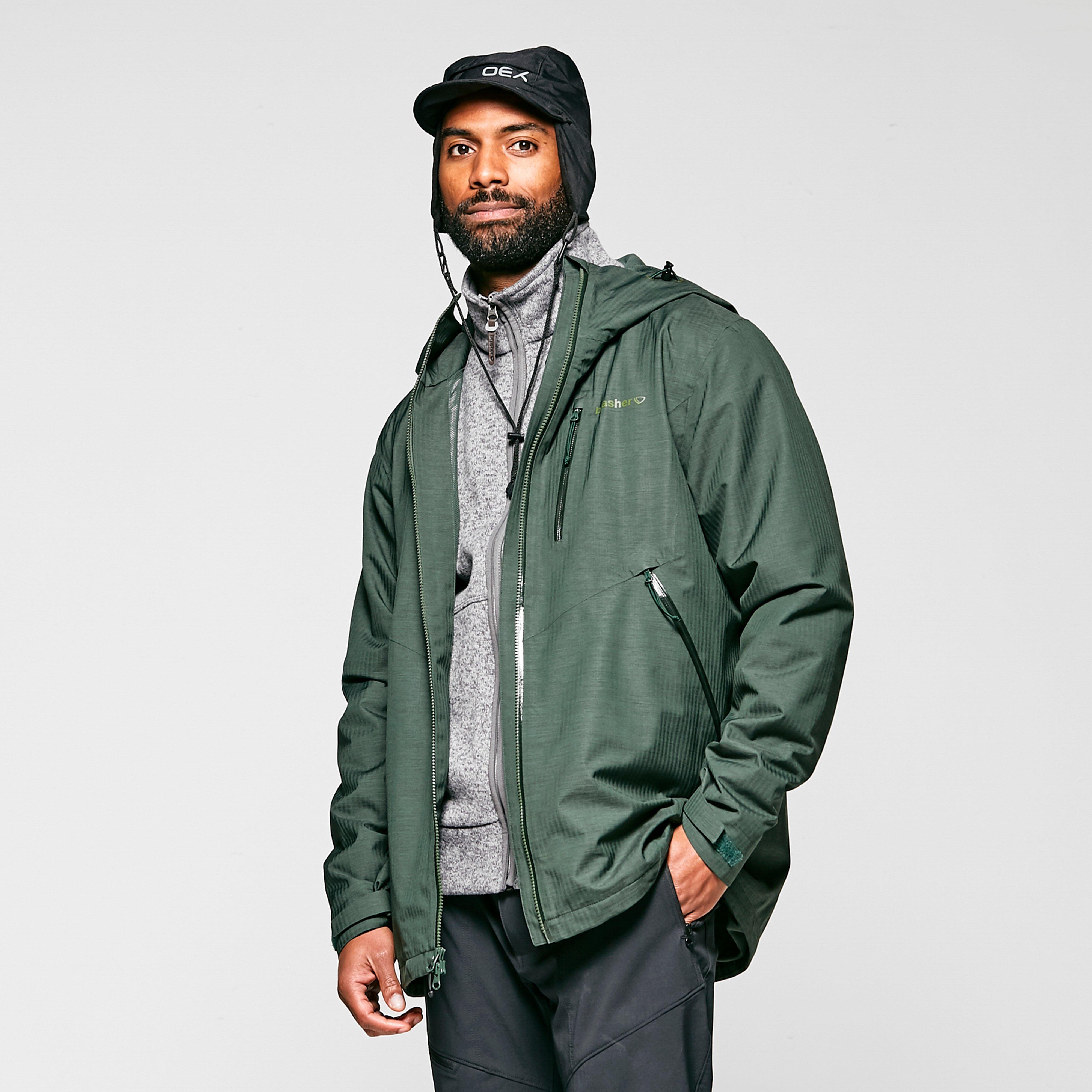 Brasher Mens Textured Waterproof Jacket - Khaki/khk  Khaki/khk