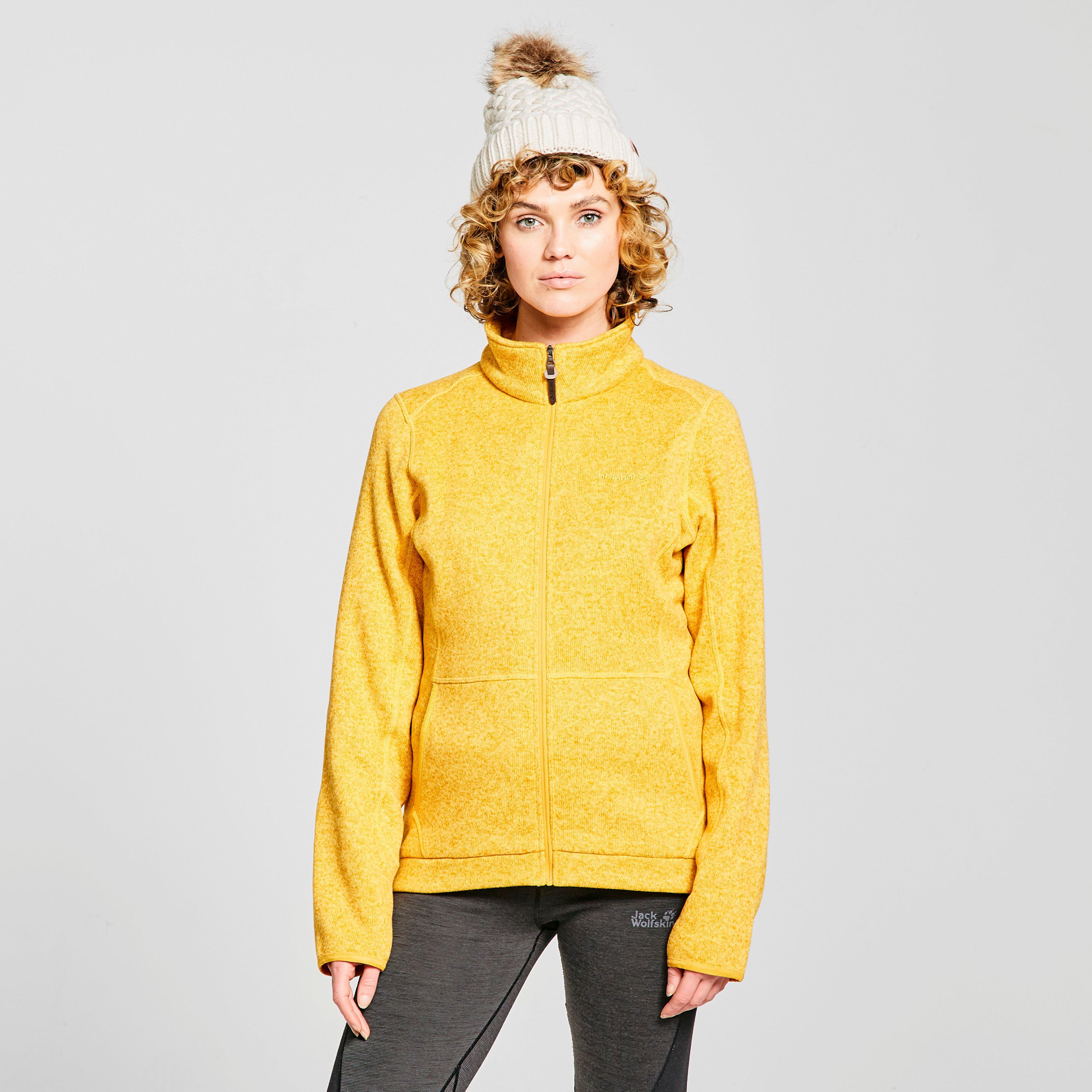 Brasher Womens Rydal Knit Fleece Jacket - Yellow/mus  Yellow/mus