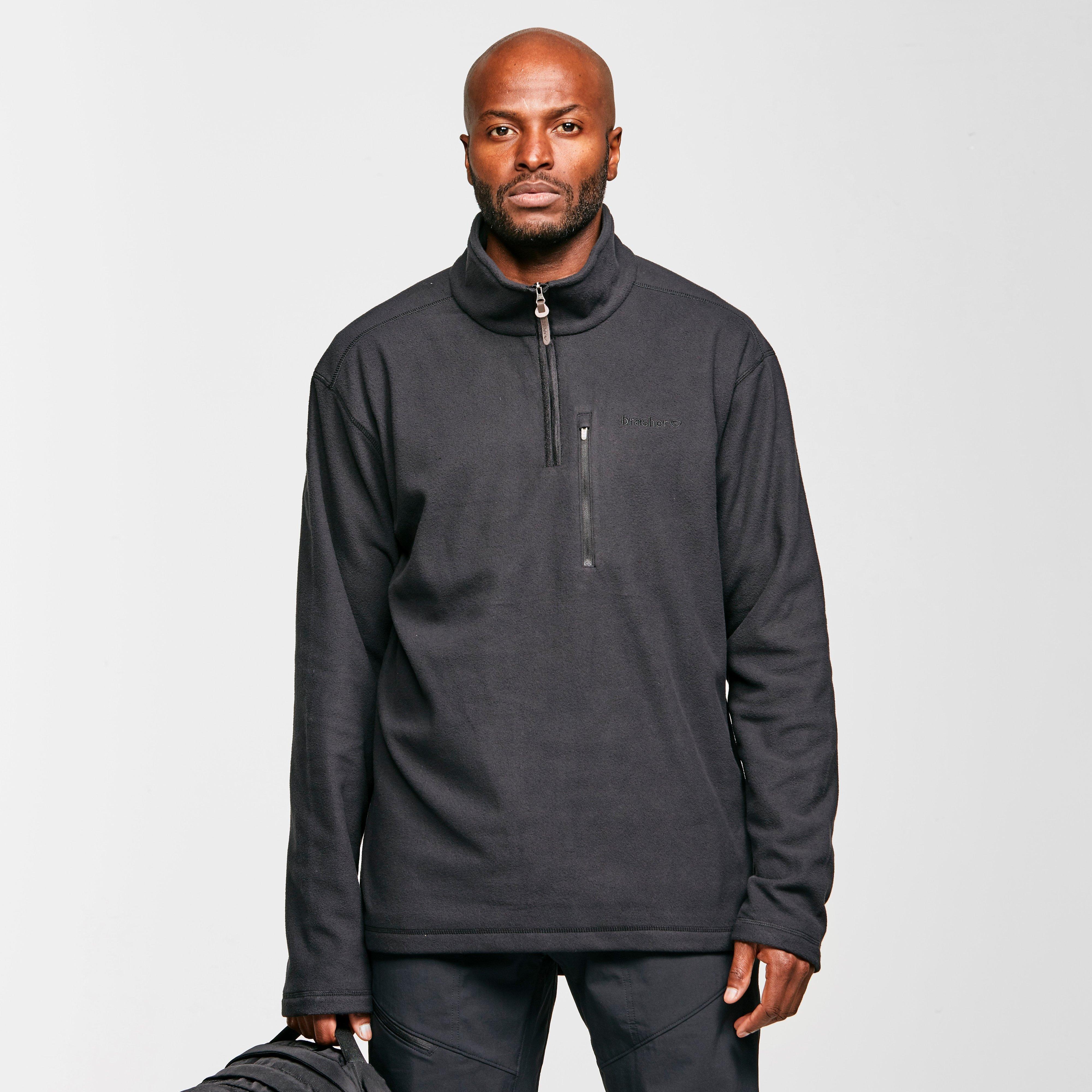 Brasher Mens Bleaberry Half-zip Fleece - Black/blk  Black/blk