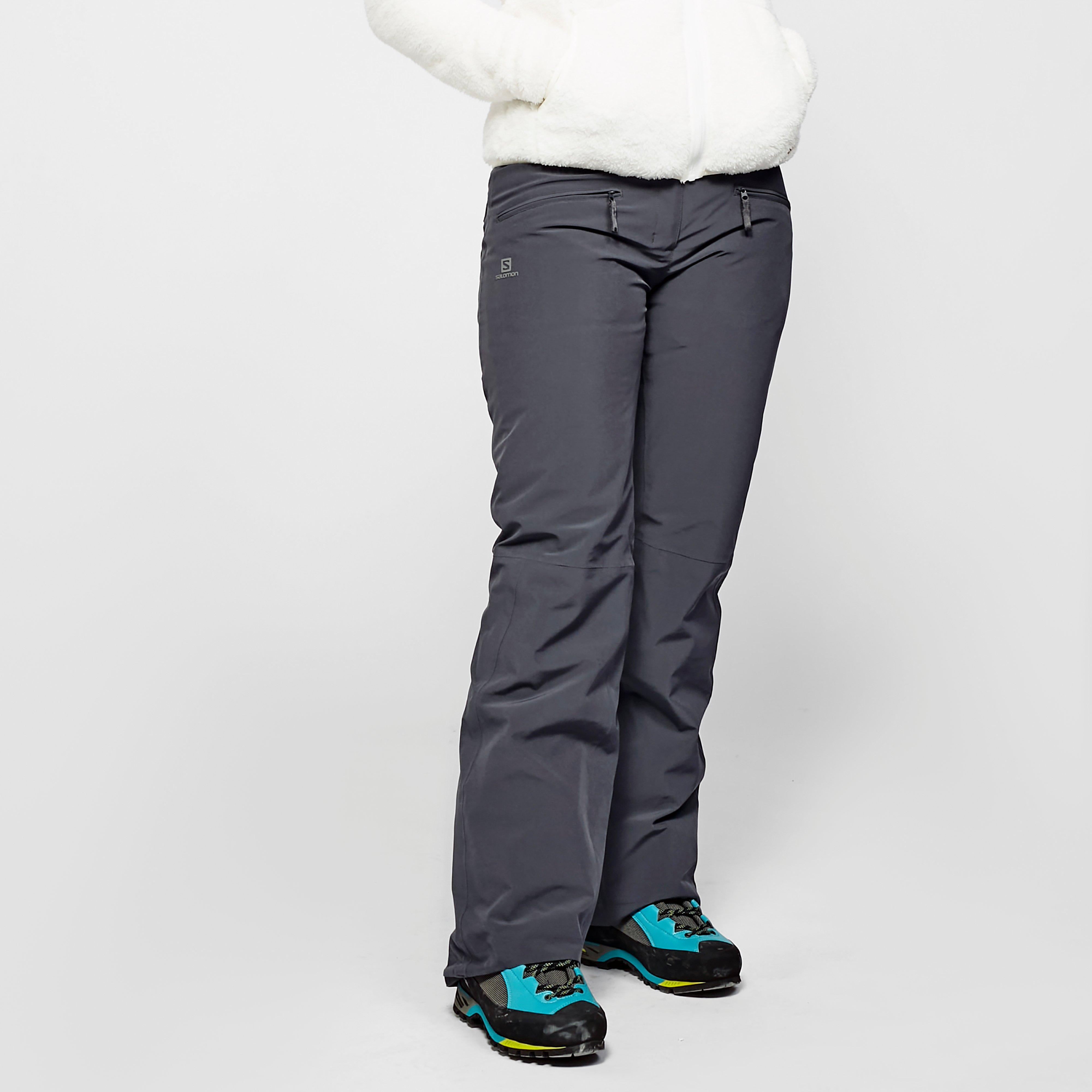 Salomon Womens Edge Ski Pants - Grey/gry  Grey/gry