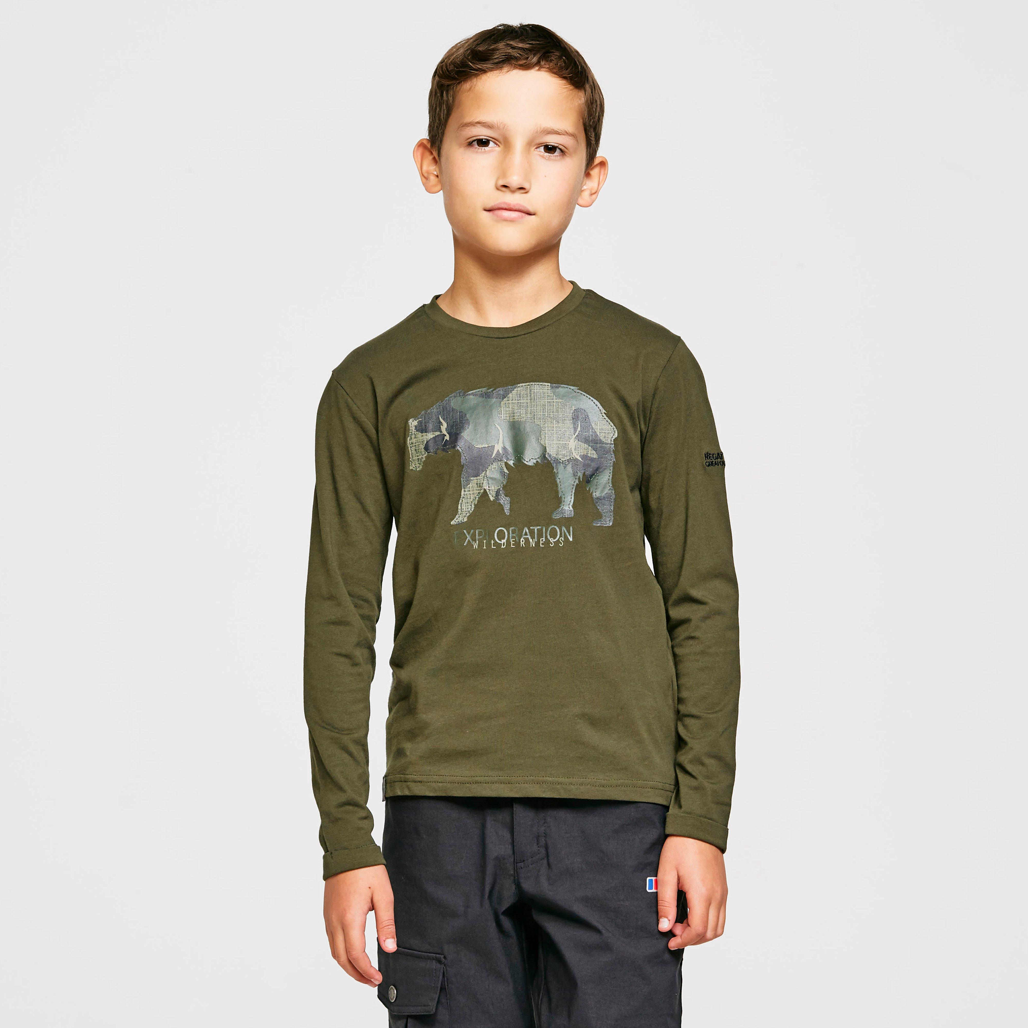 Regatta Kids Wenbie Long-sleeved Top - Khaki/khaki  Khaki/khaki