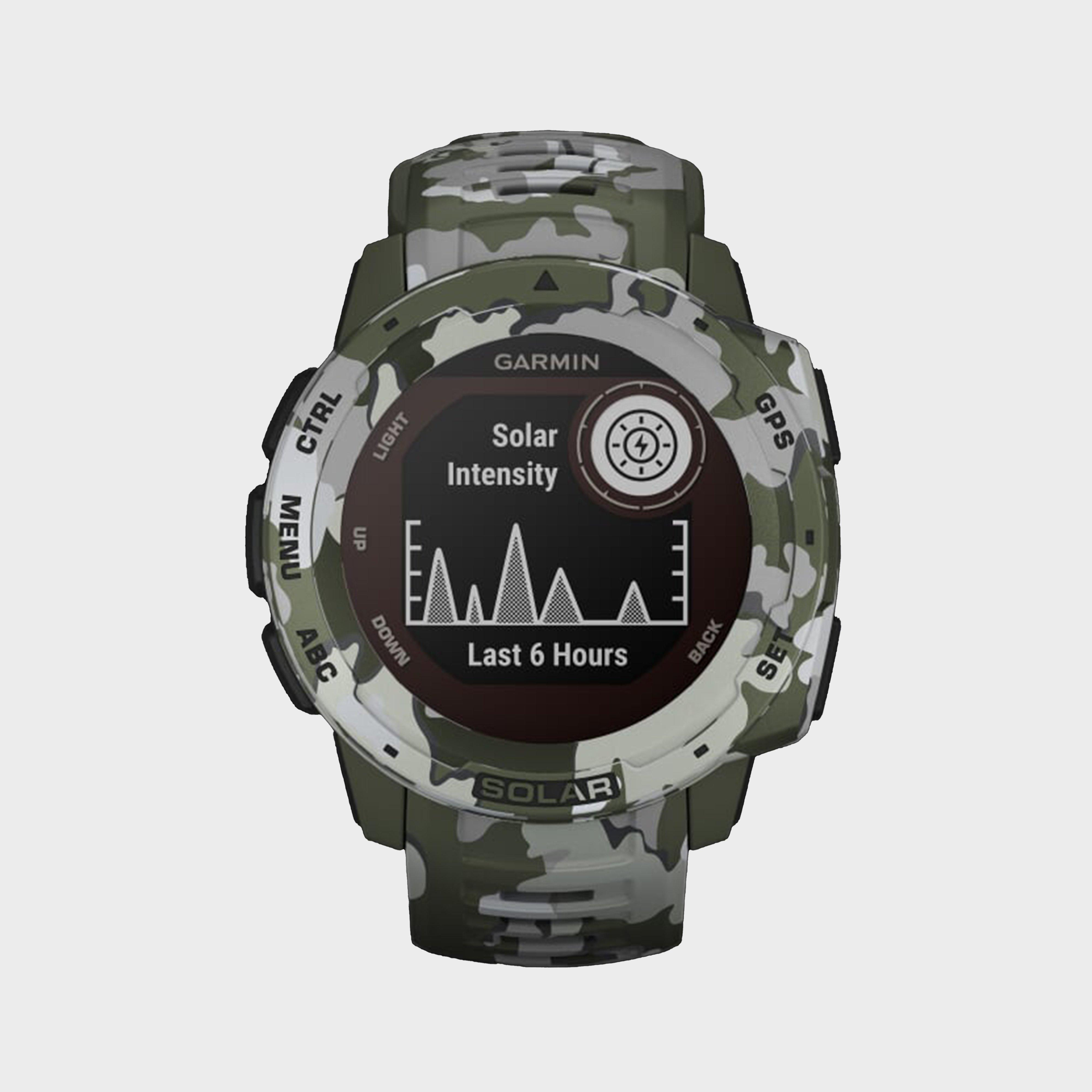Garmin Instinct Solar Edition Multi-Sport Gps Watch - Multi/Green, Multi/Green