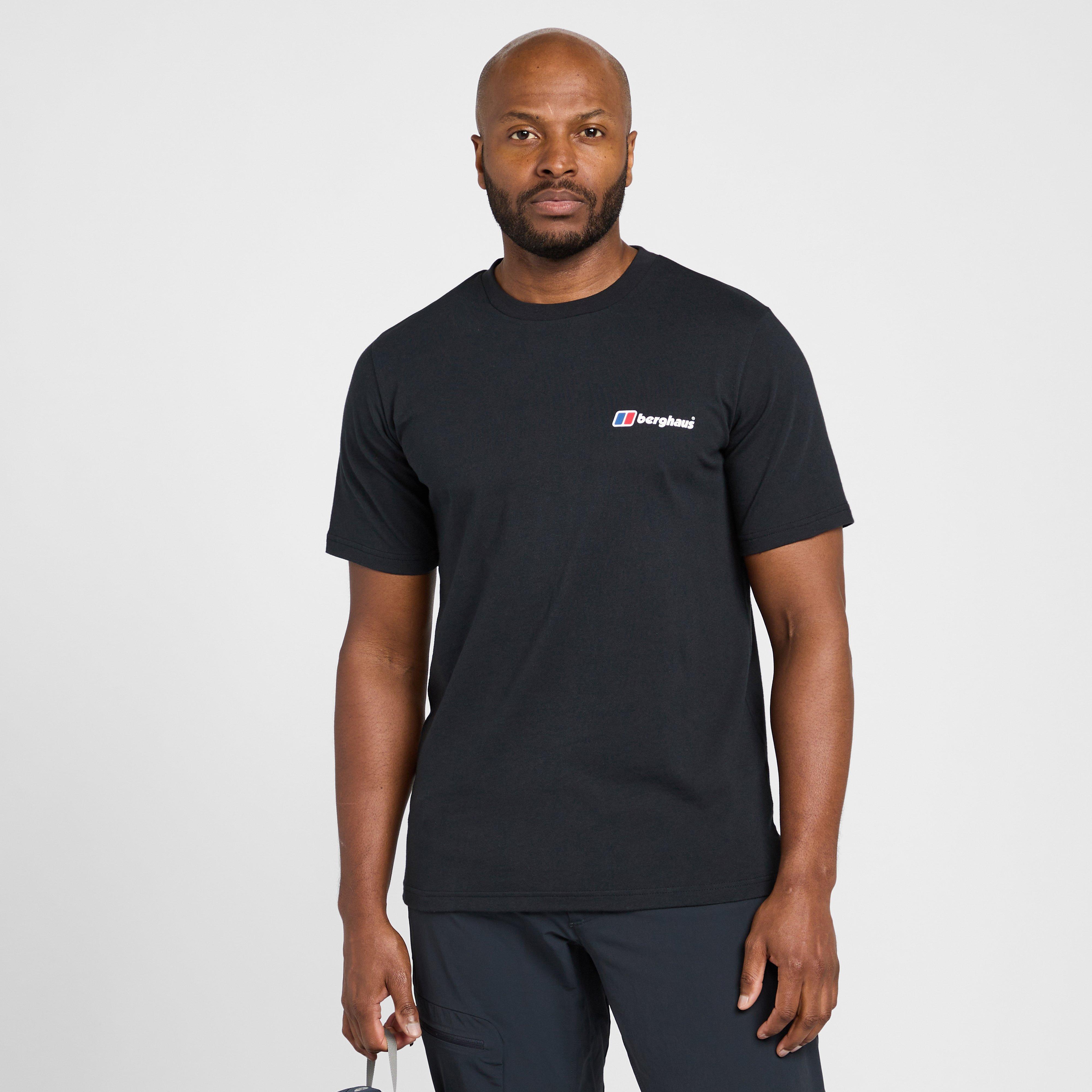 Berghaus Mens Colour Logo T-shirt - Black/black  Black/black