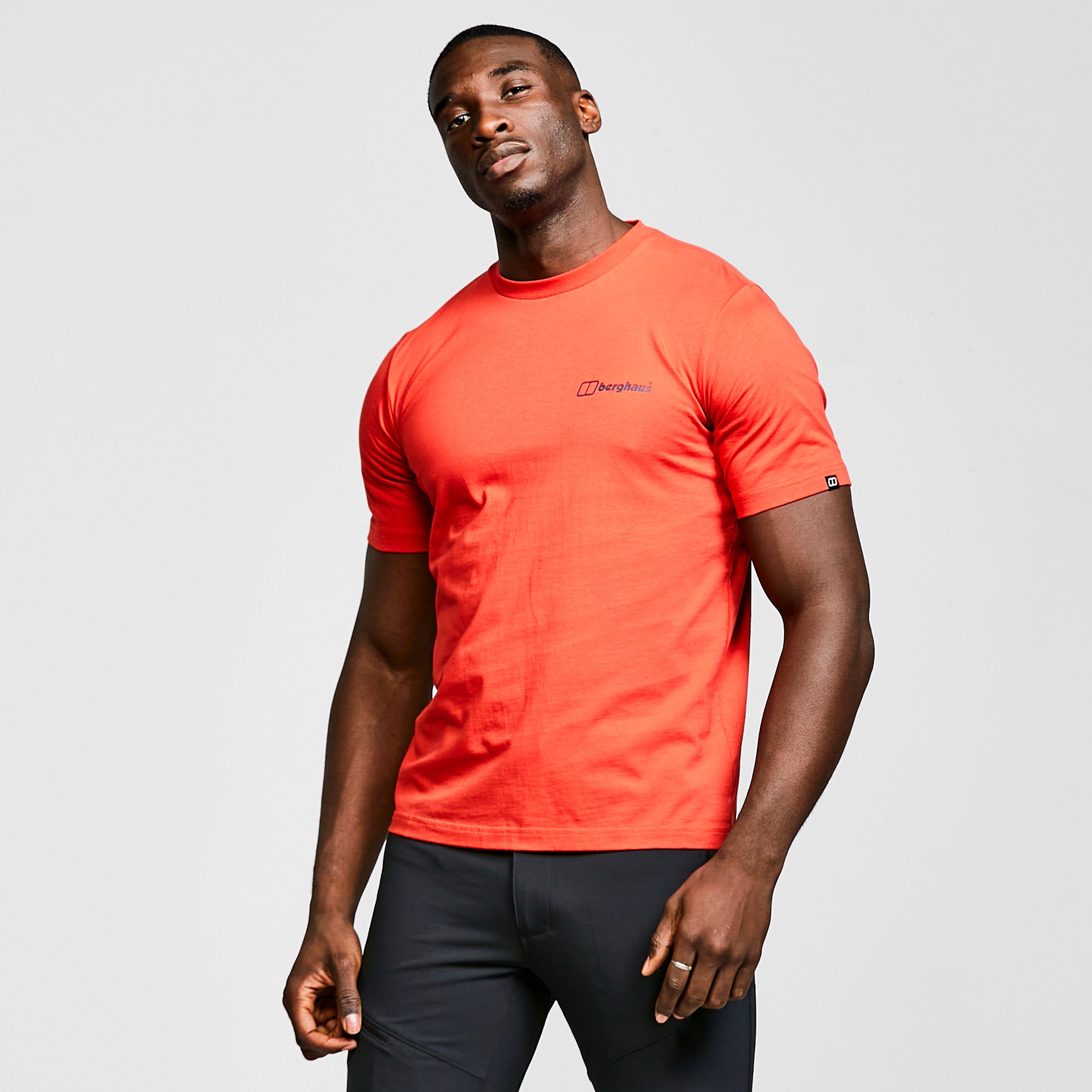 Berghaus Mens Colour Logo T-shirt - Red/red  Red/red