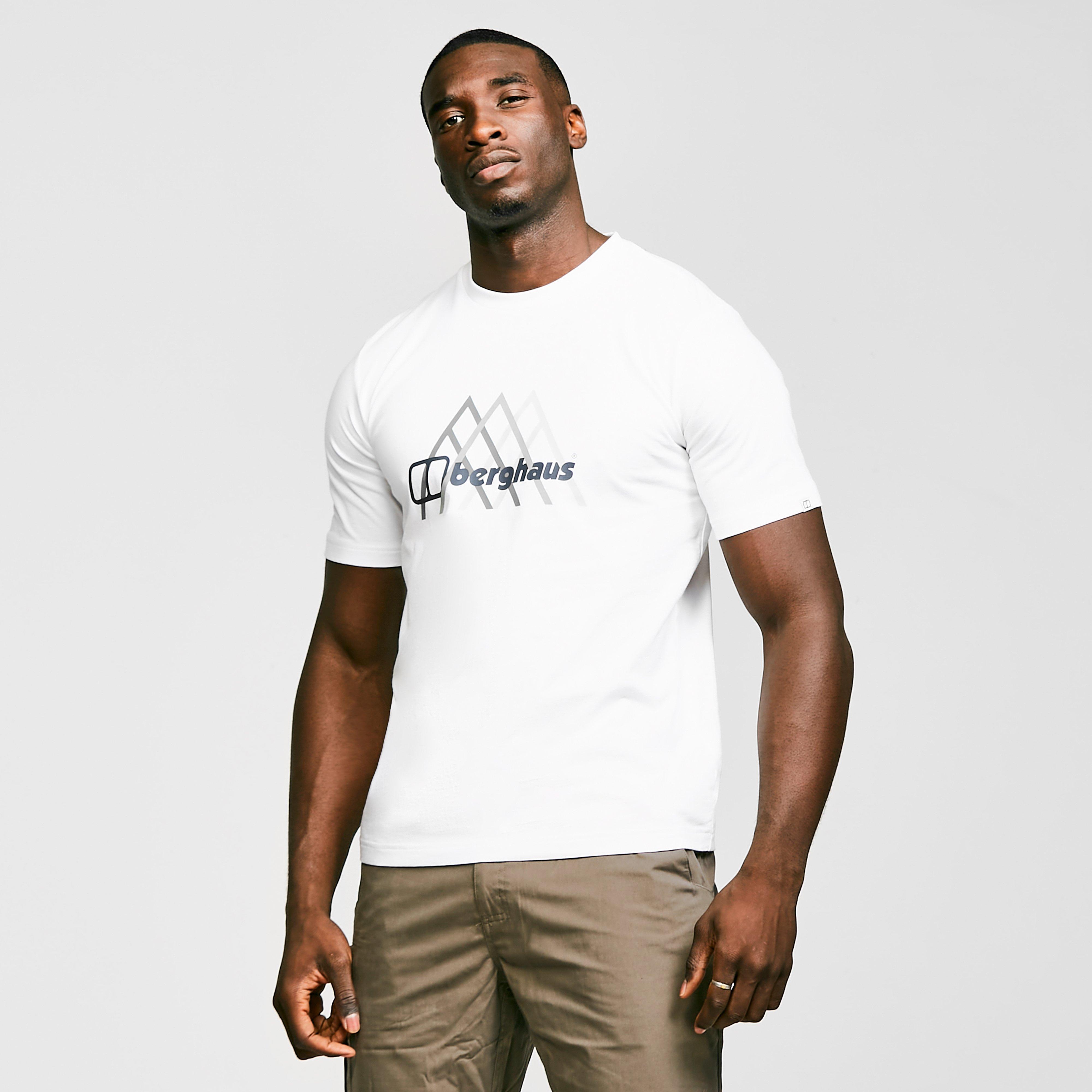 Berghaus Mens Peak Fusion Grid T-shirt - White/white  White/white