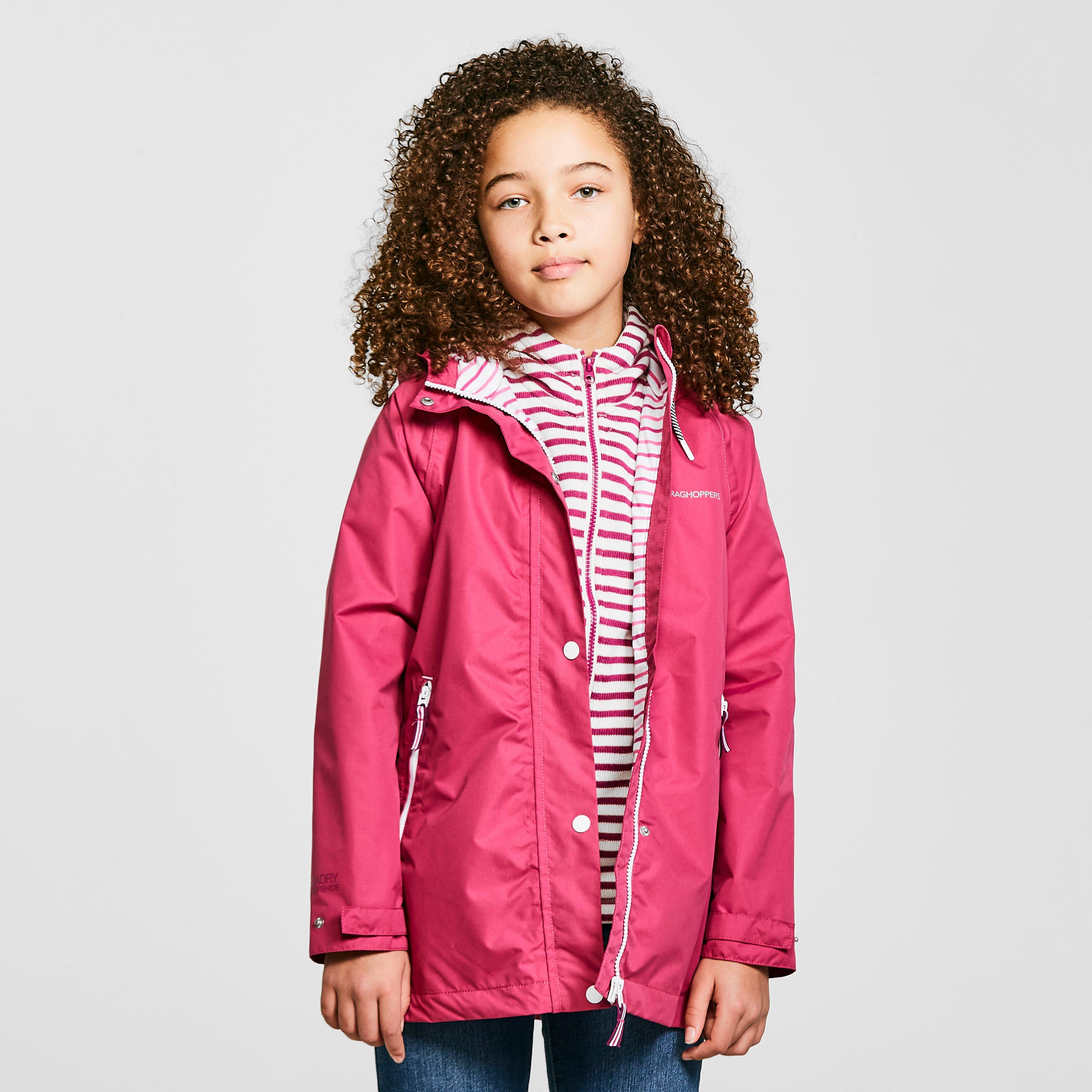 Craghoppers Kids Marietta Waterproof Jacket - Pink/pink  Pink/pink