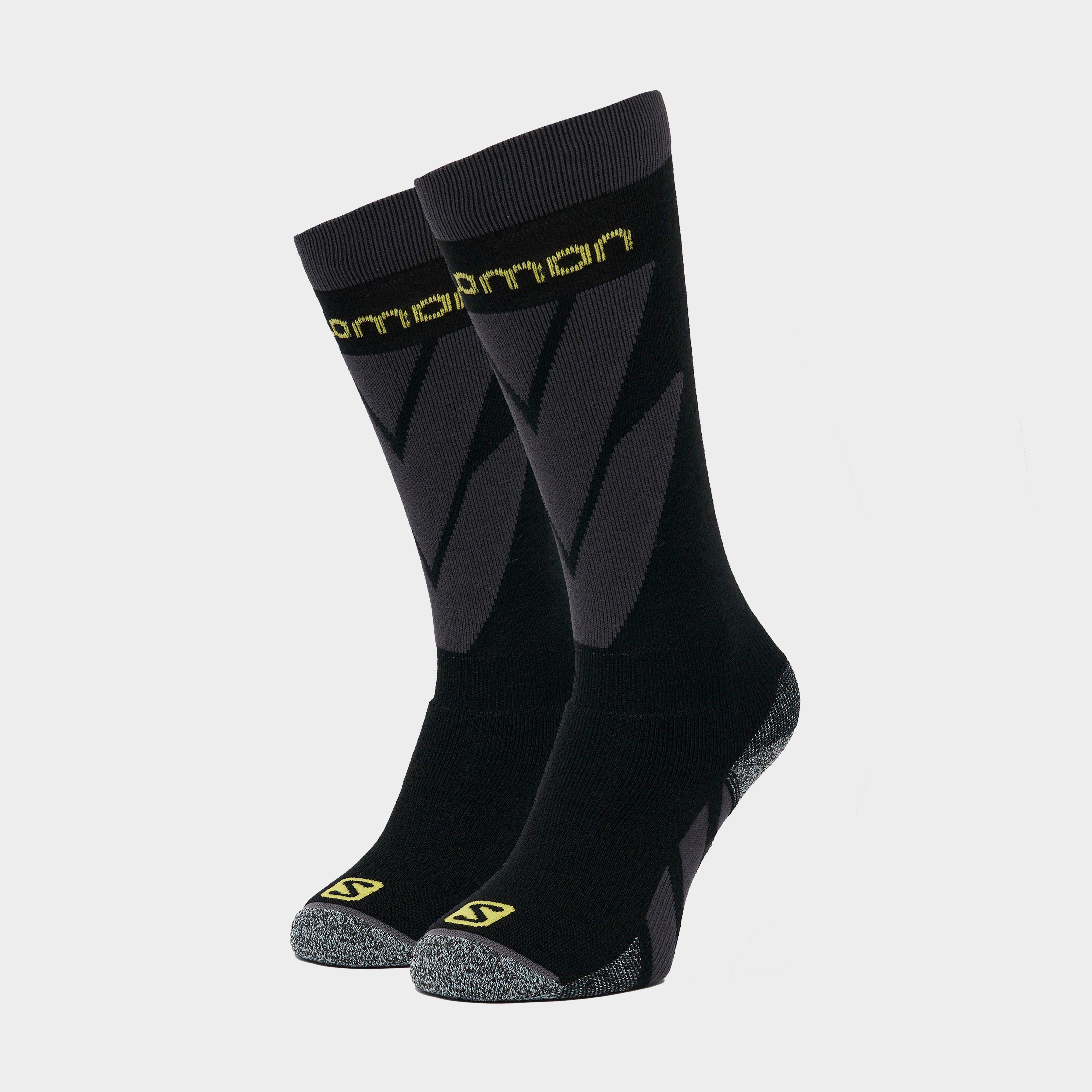 Salomon Socks Mens Access Skiing Socks (2 Pack) - Black/yellow  Black/yellow
