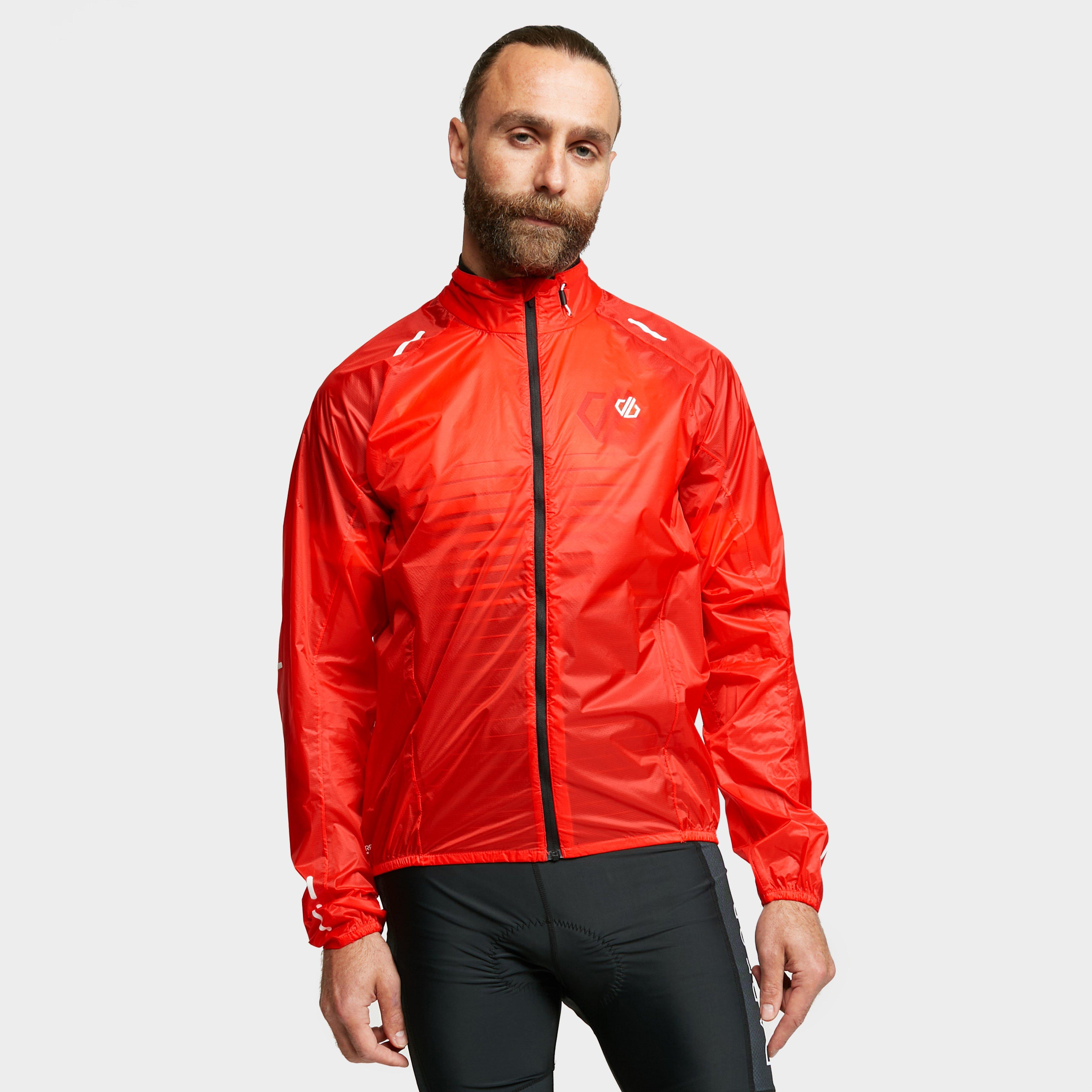 Dare 2b Mens Resphere Cycling Jacket - Red/ora  Red/ora