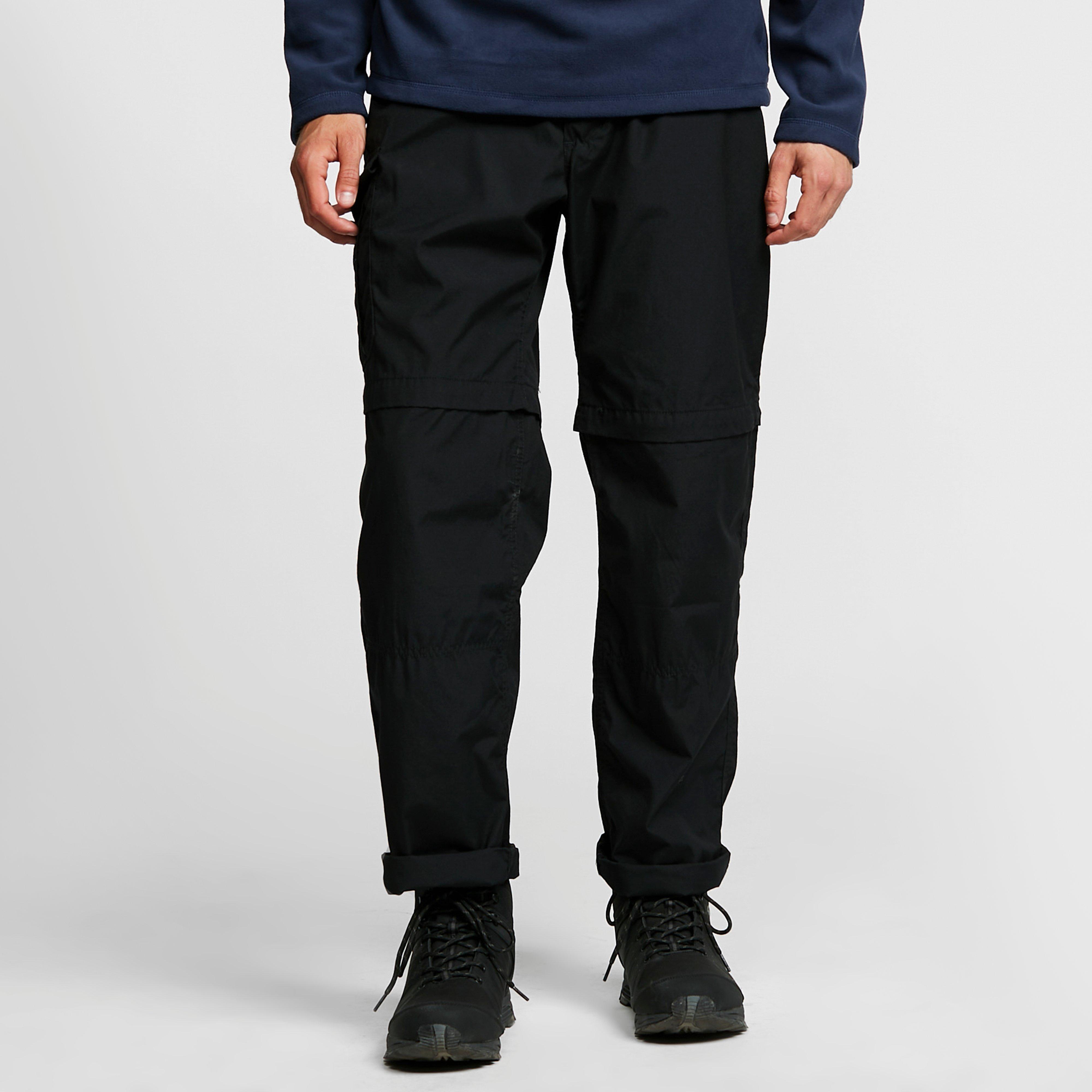 Craghoppers Mens Kiwi Convertible Trousers - Black/blk  Black/blk