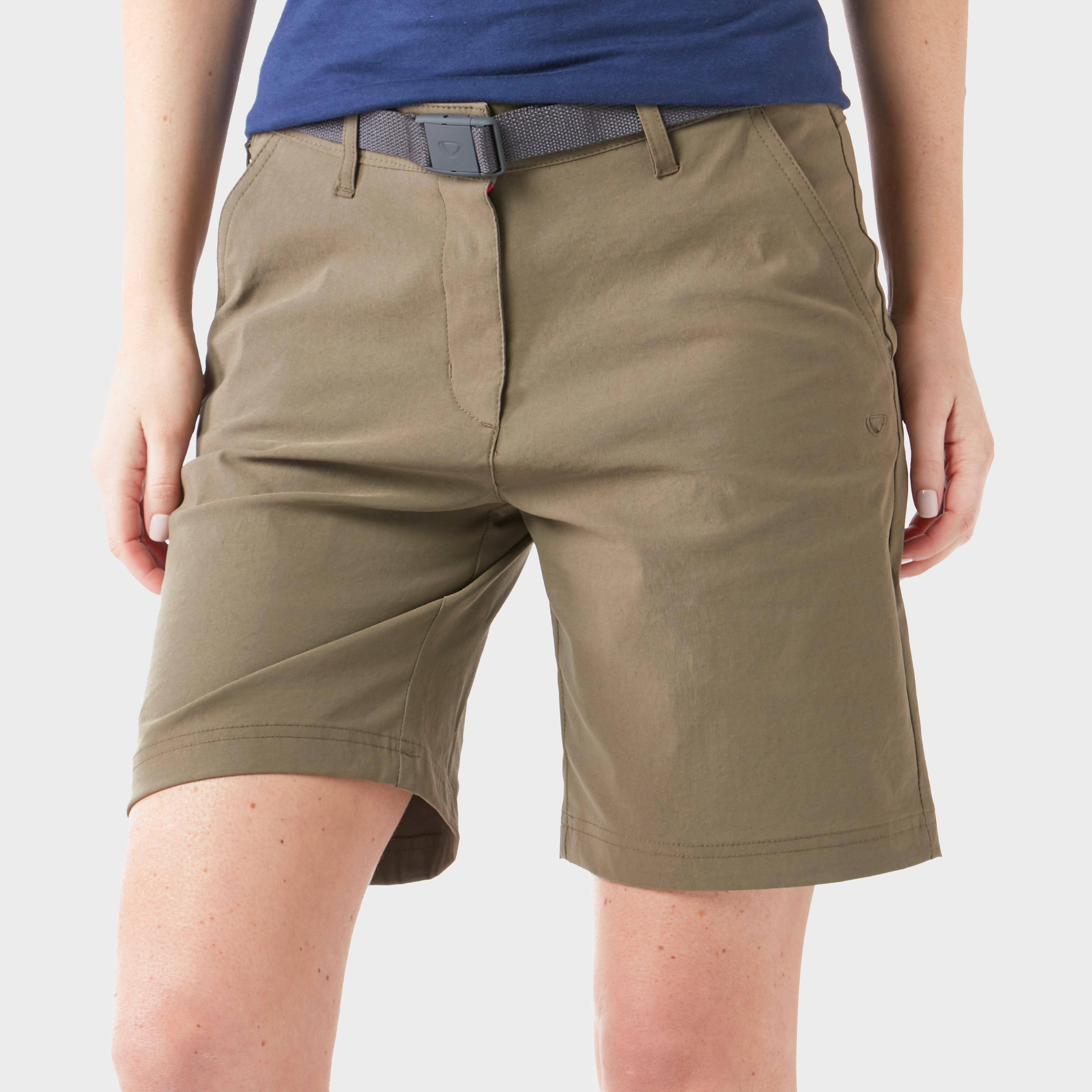 Brasher Women's Stretch Shorts, Khaki/Khaki