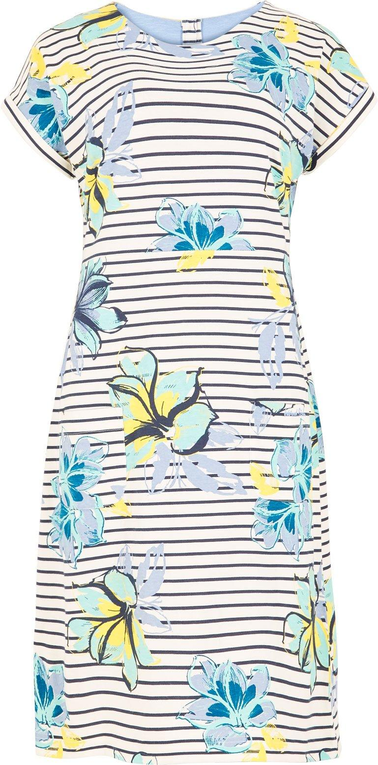 Weird Fish Women's Tallahassee Printed Jersey Dress, Cream/CRM
