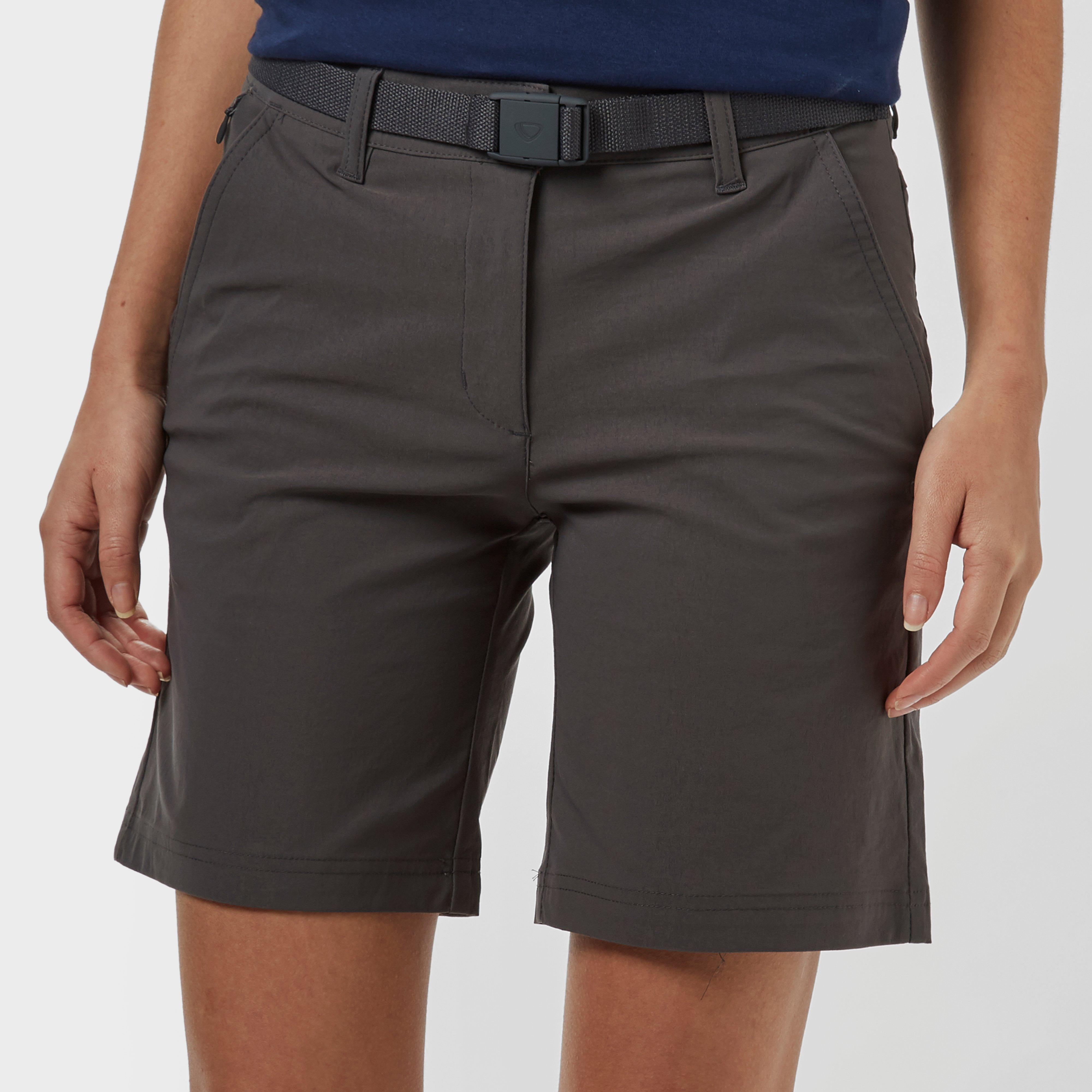 Brasher Women's Stretch Shorts, Grey/Grey