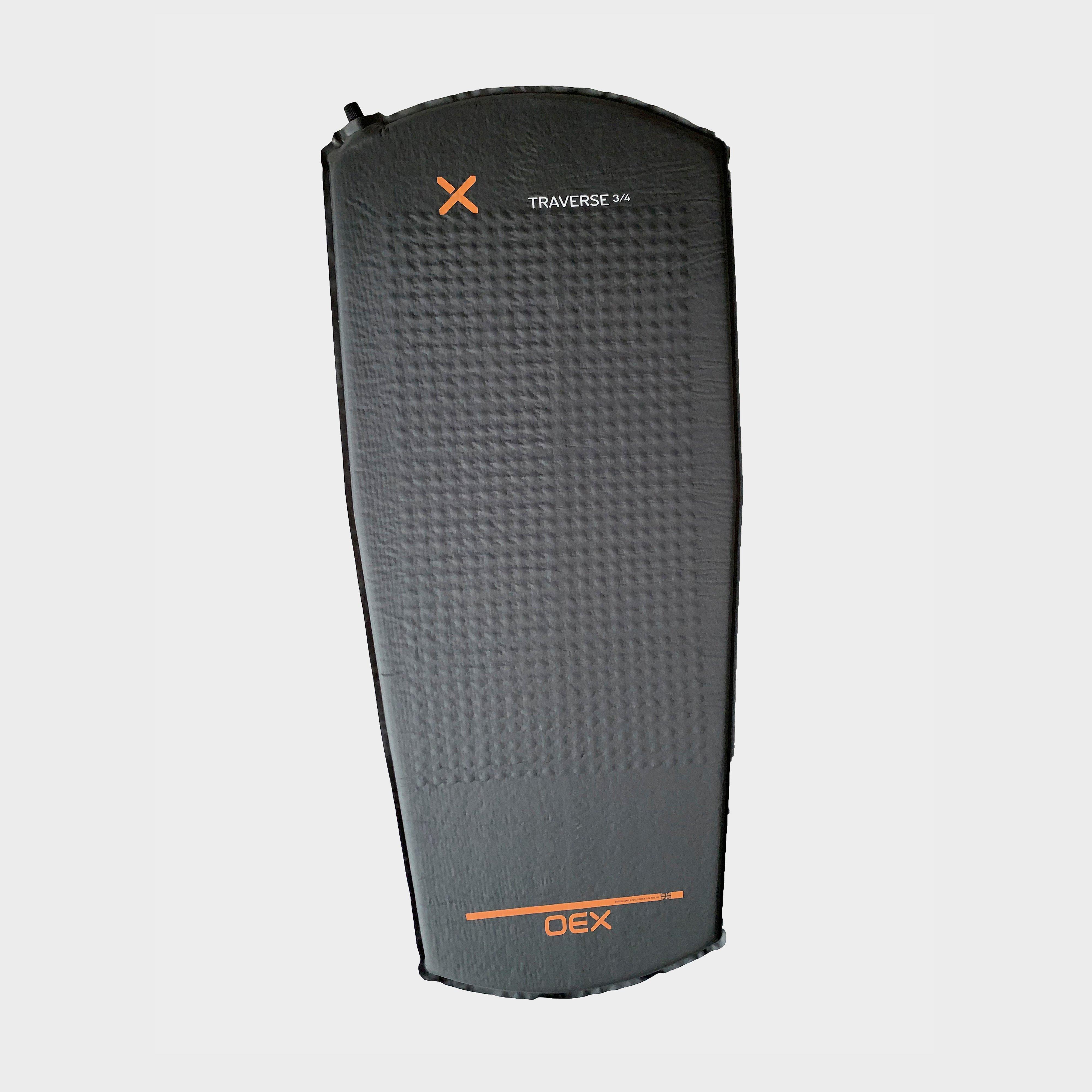 OEX Traverse 3/4 Self-Inflating Mat, CHARCOAL/SIM