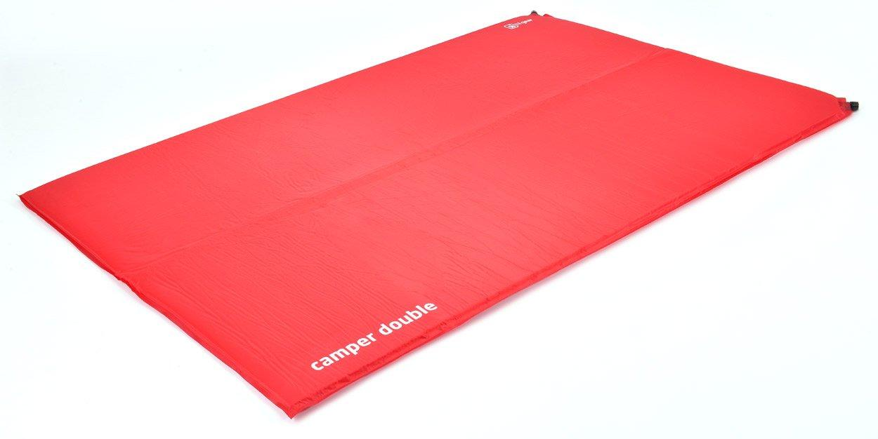 HI-GEAR Camper Double Self-Inflating Mat, RED/SIM