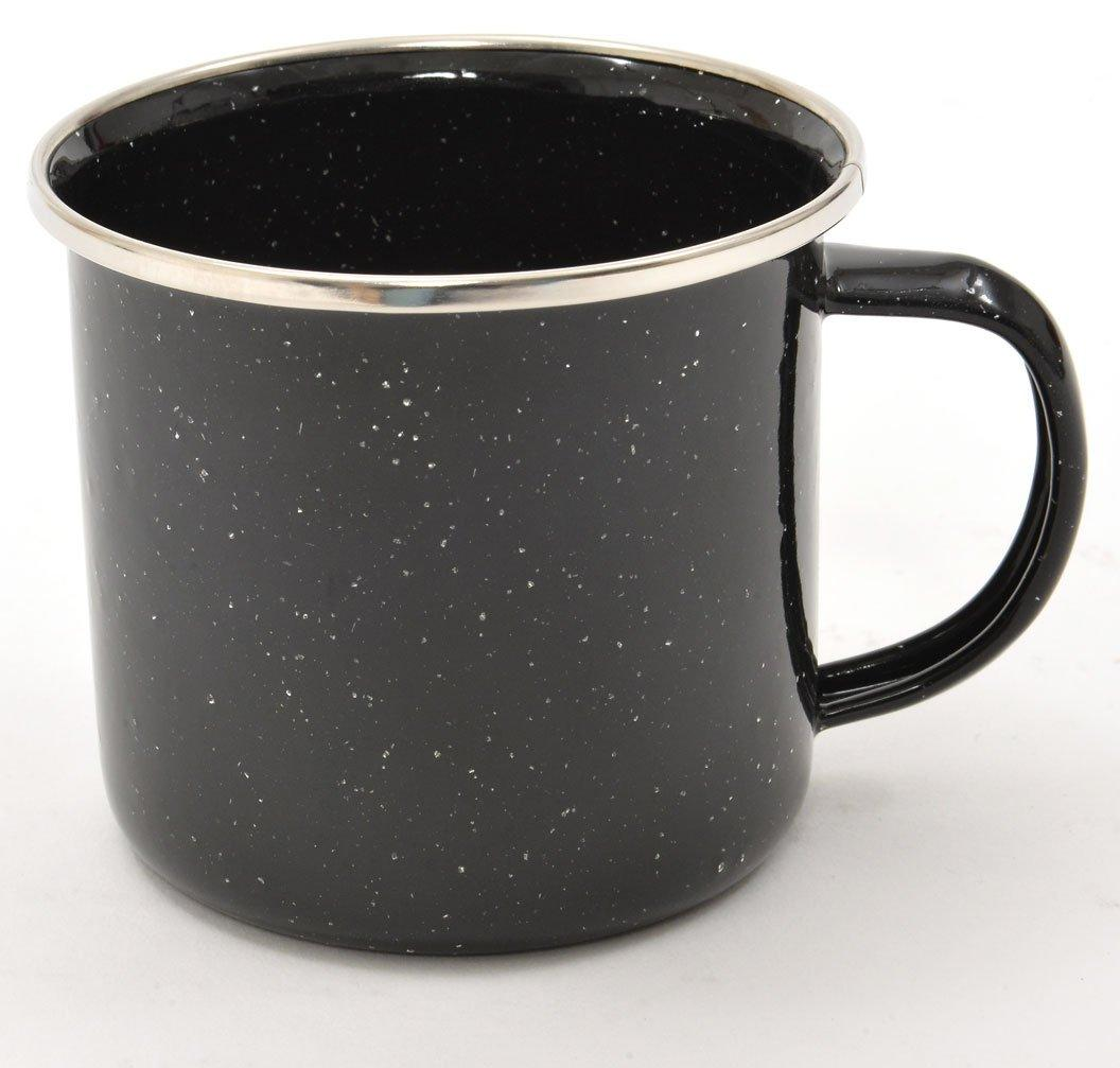 HI-GEAR Enamel Cup 12oz, BLACK/12OZ