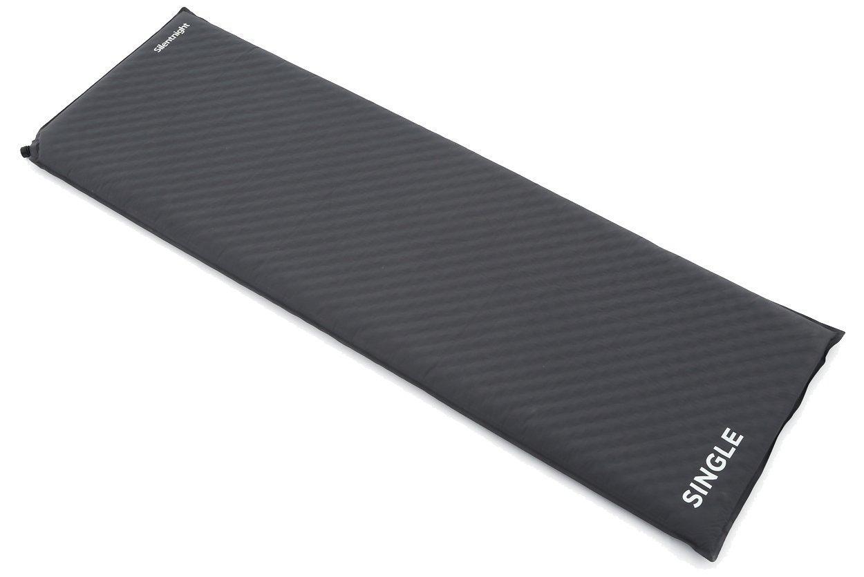Silentnight Treknap 500 Single Self-Inflating Sleeping Mat, CHARCOAL/SINGL