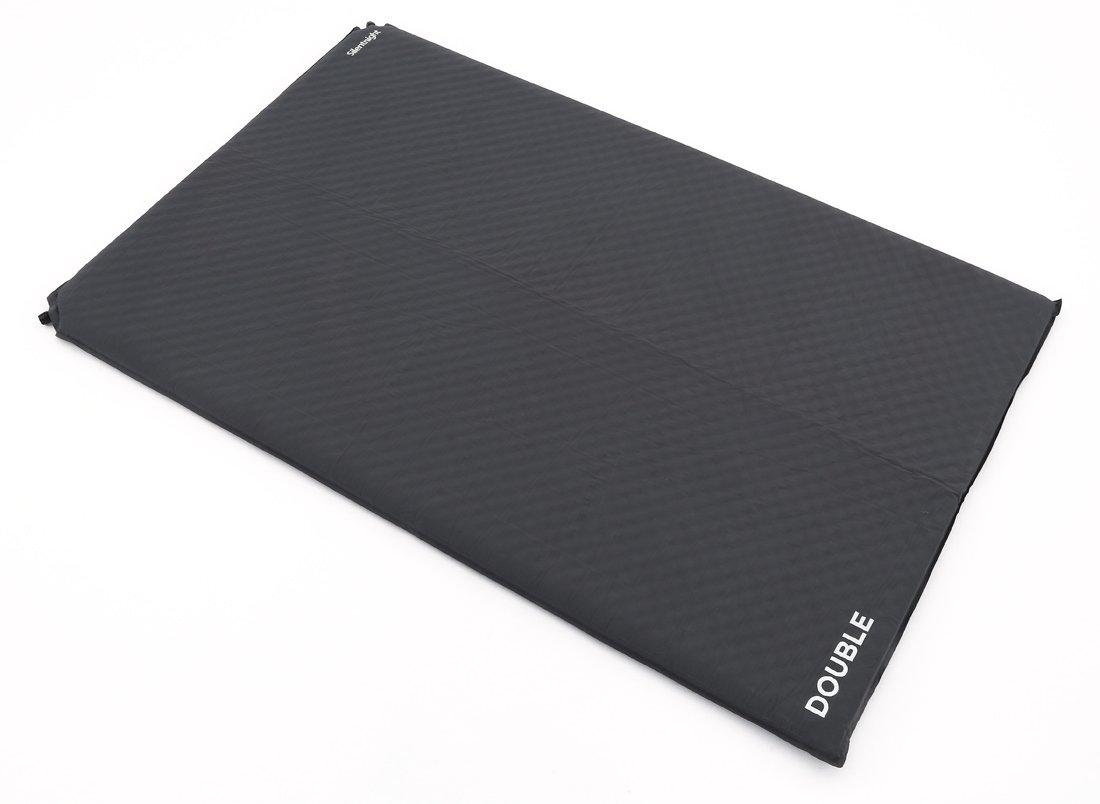 Silentnight Treknap 500 Double Self-Inflating Sleeping Mat, CHARCOAL/DOUBL