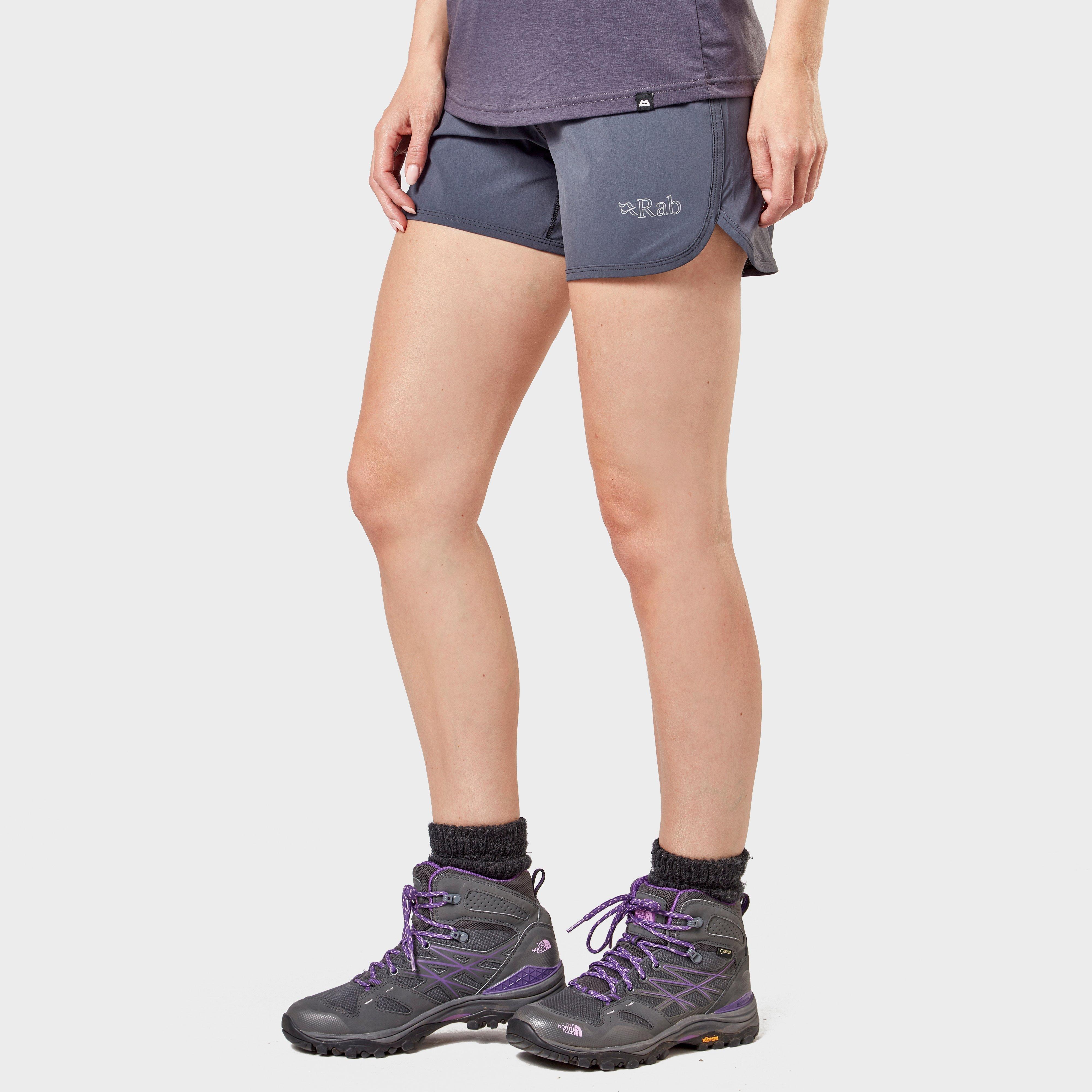 Rab Women's Momentum Shorts, MID GREY/WMNS