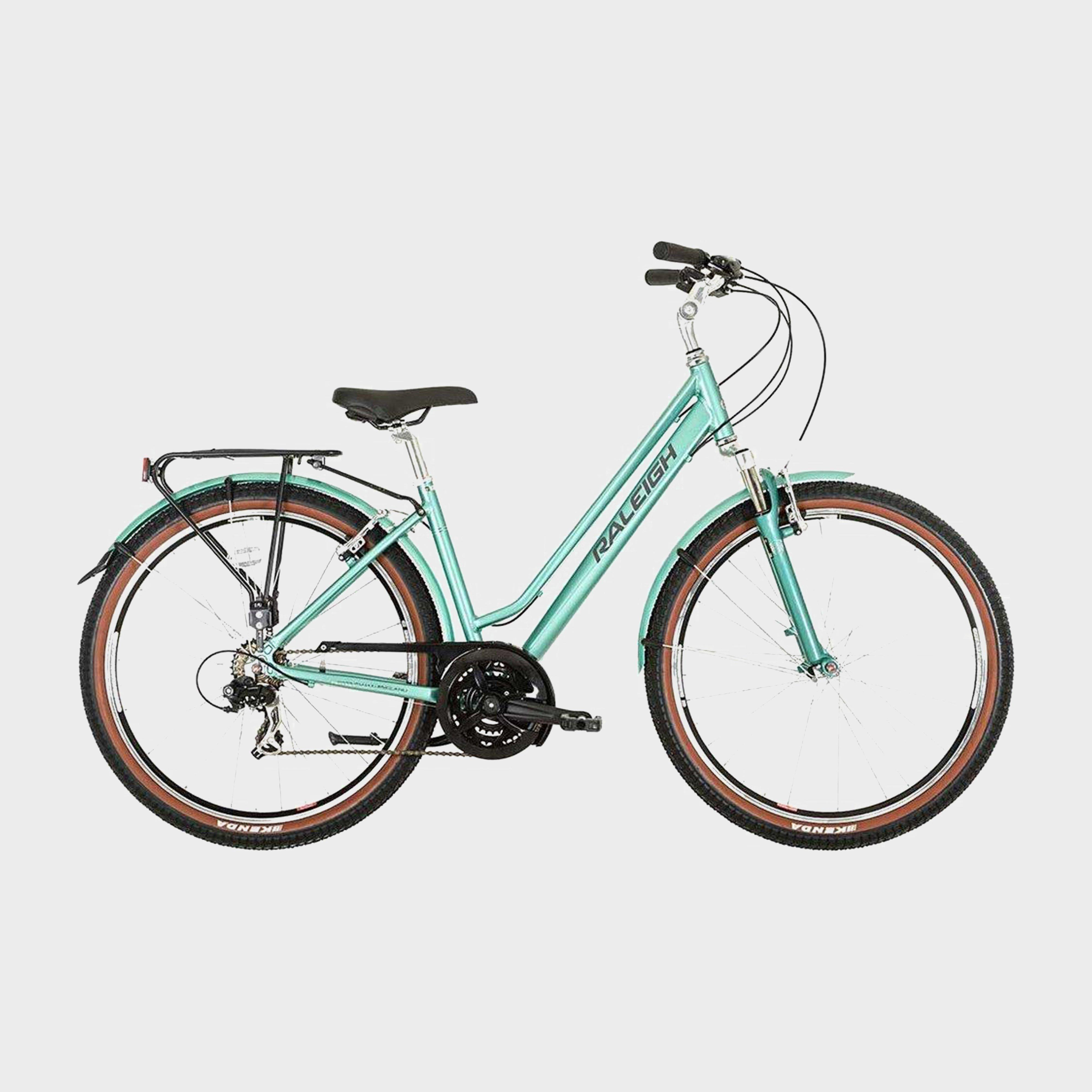 RALEIGH Pioneer Trail Low Step Frame Commuter Bike, TURQUOISE/LADIES