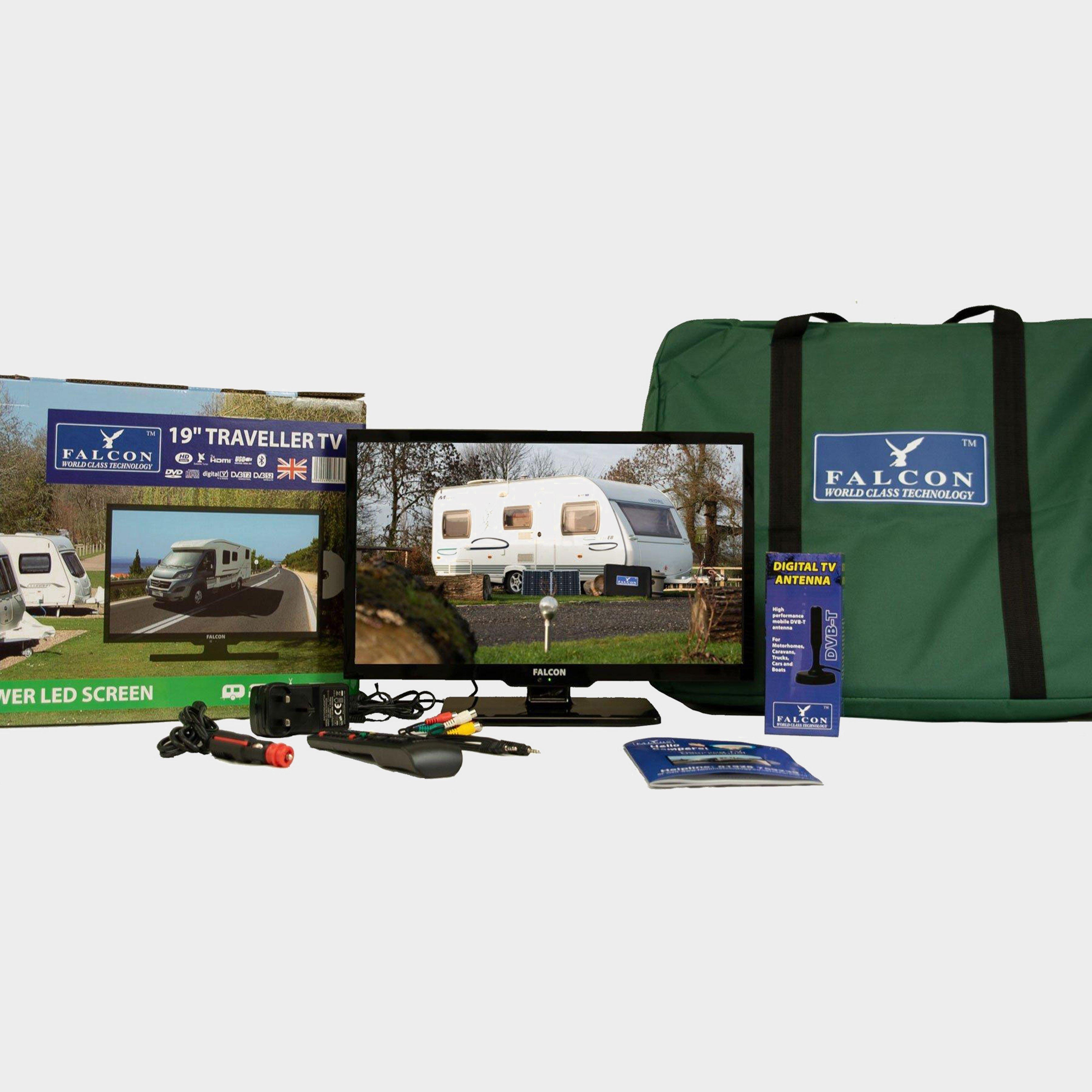 """Falcon TV Plus Pack - 19"""" LED TV, 12V & Mains with magnet, NO COLOUR/KI"""