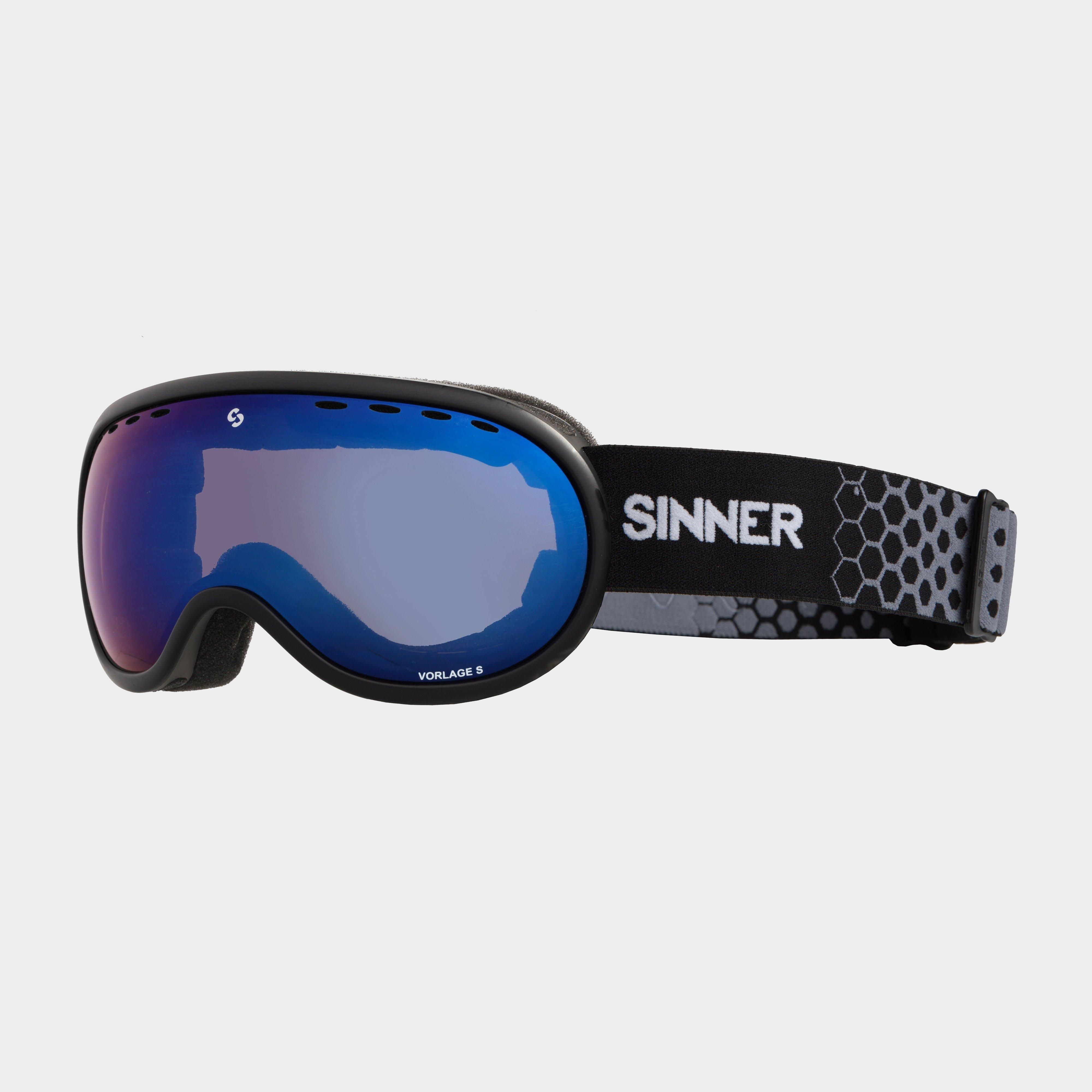 Sinner Vorlage S Blue Mirror Vent Goggles, Black/Blue