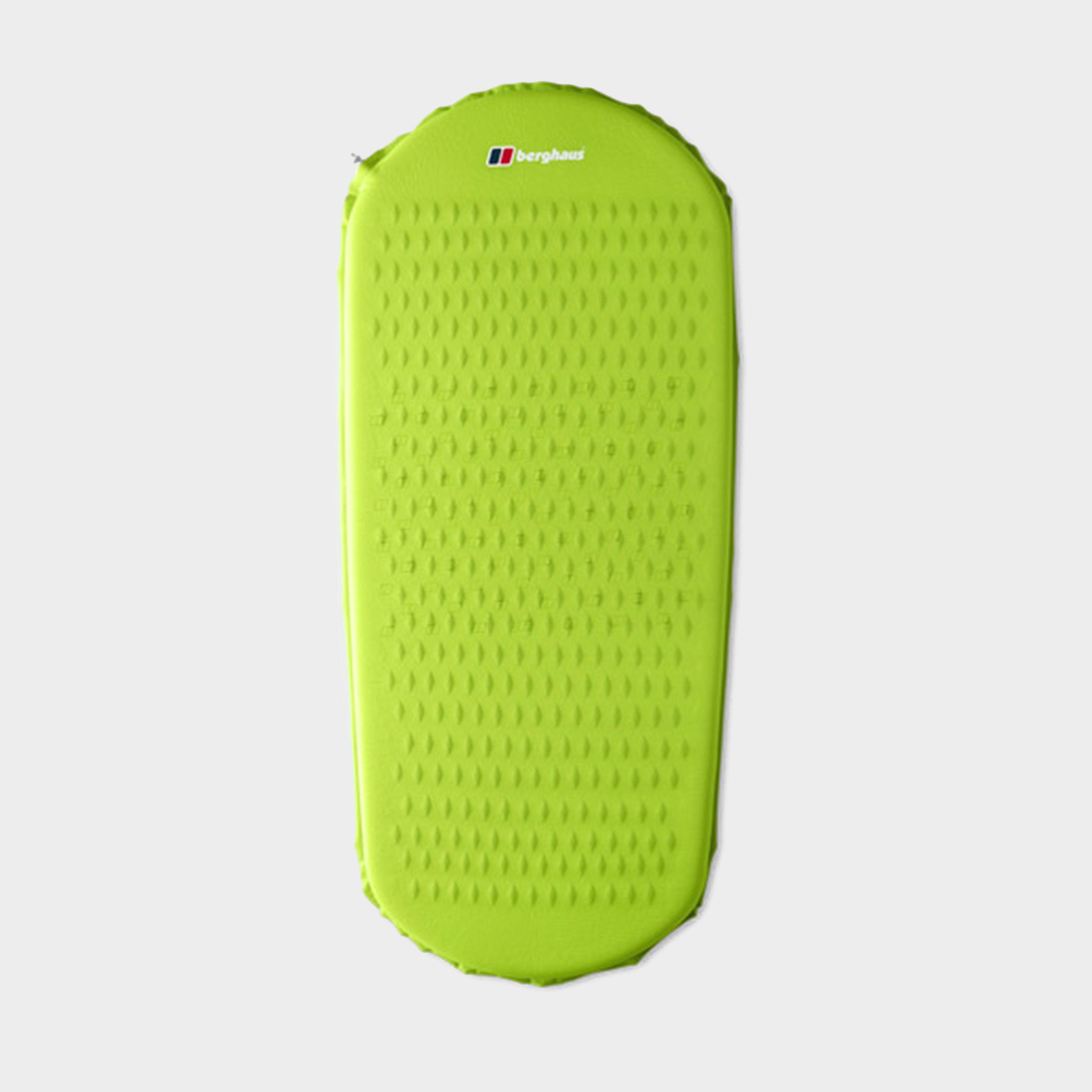 BERGHAUS Peak Compact Self Inflating Mat, Green/LGN