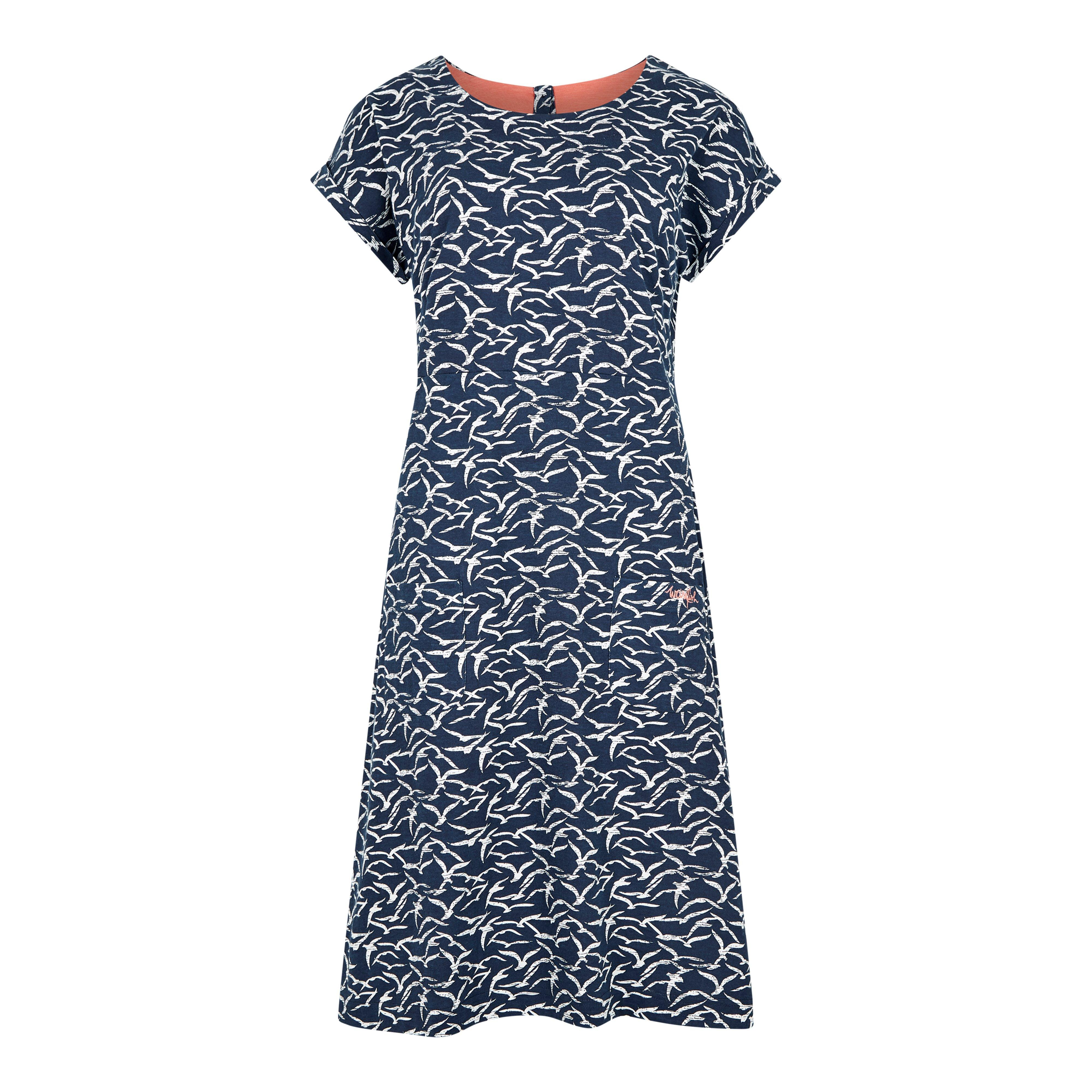Weird Fish Women's Talahassee Dress, Navy Blue/NVY