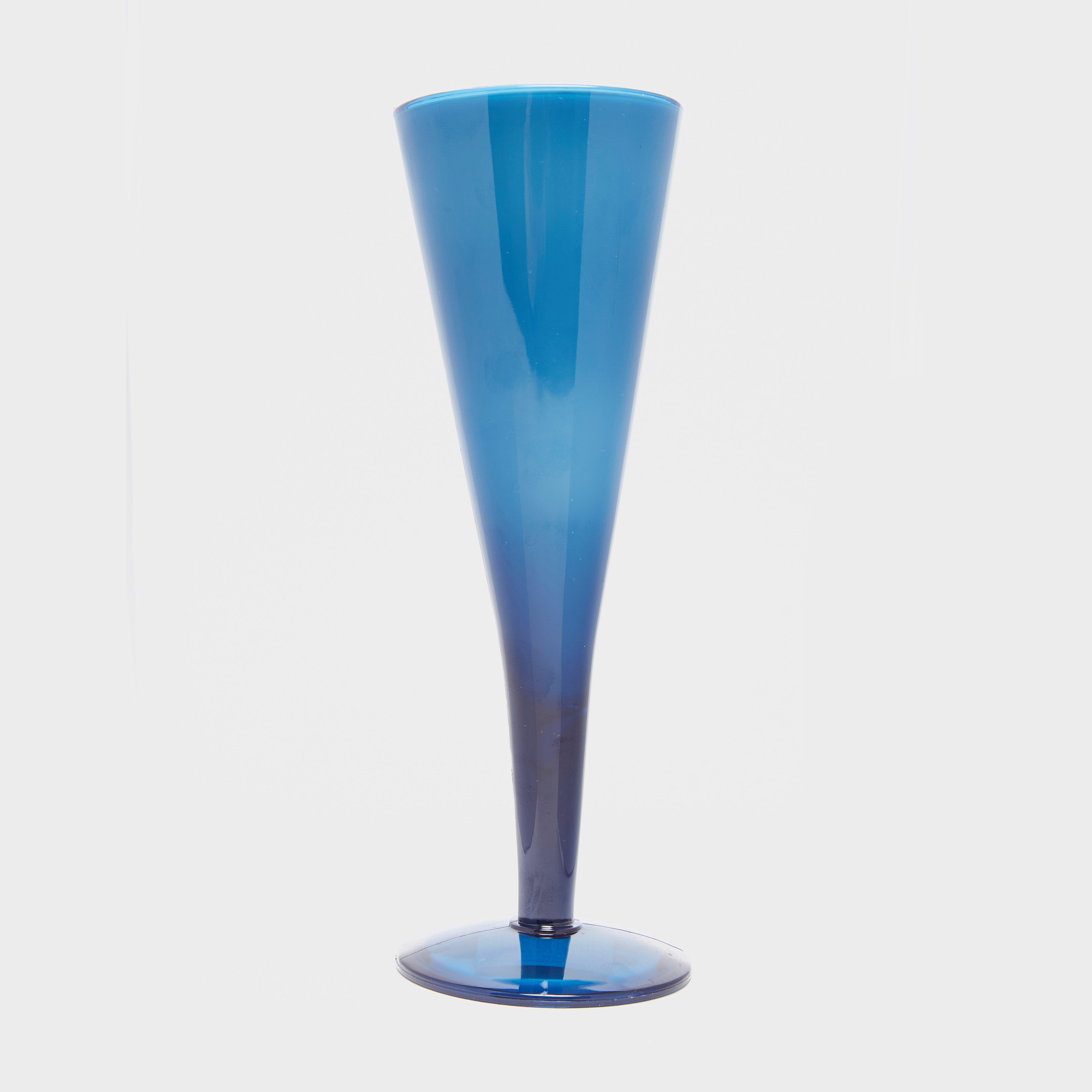 HI-GEAR Deluxe Plastic Champagne Flute, Blue/BBL