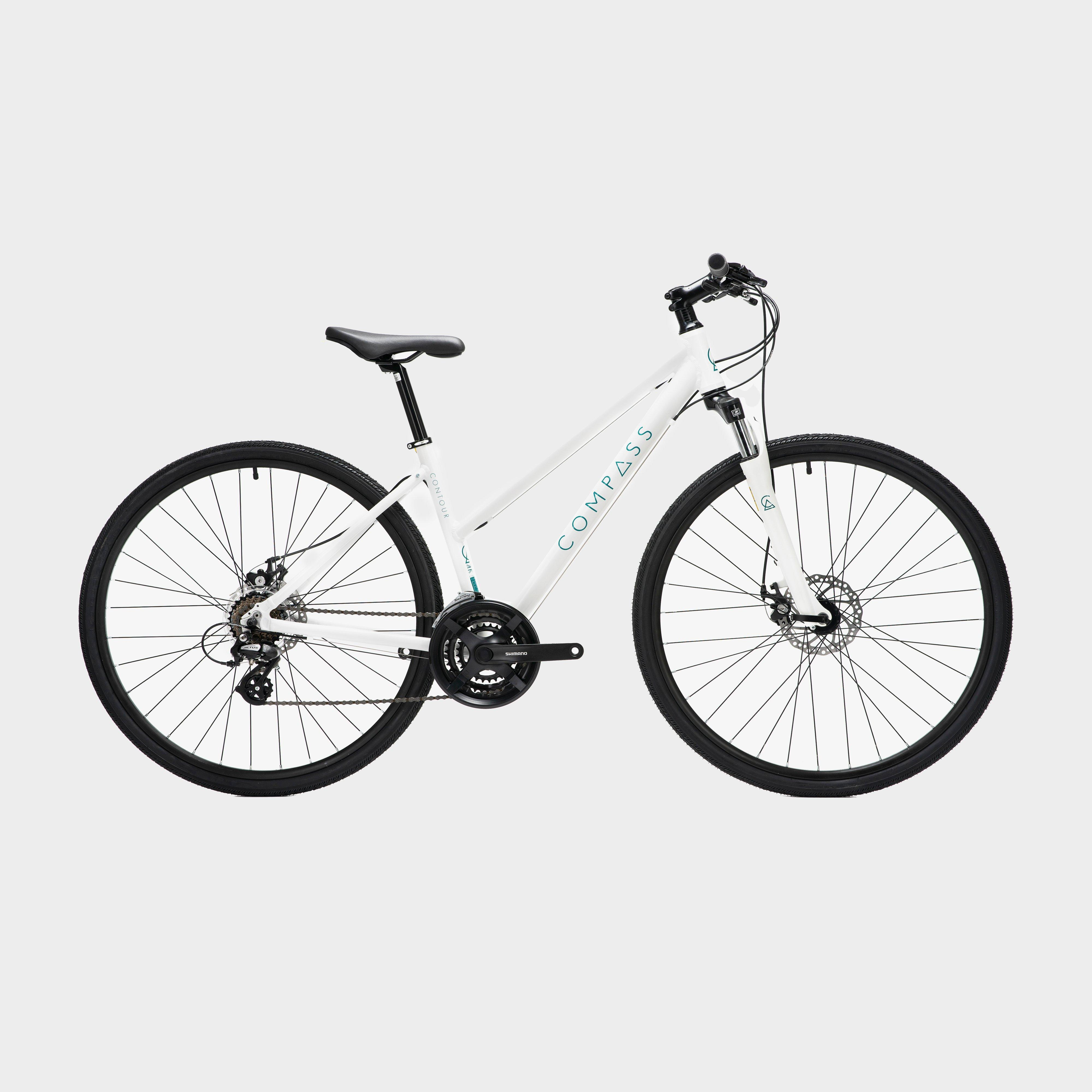 Compass Contour Women's Bike, White/White