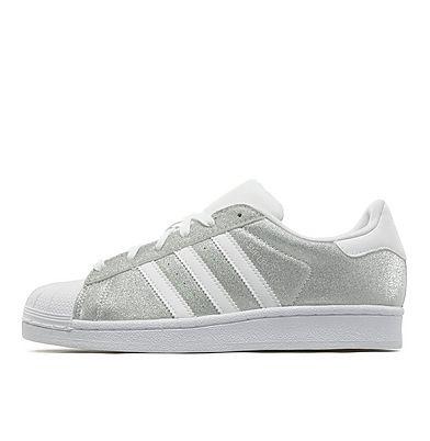 adidas superstar wit zilver glitter