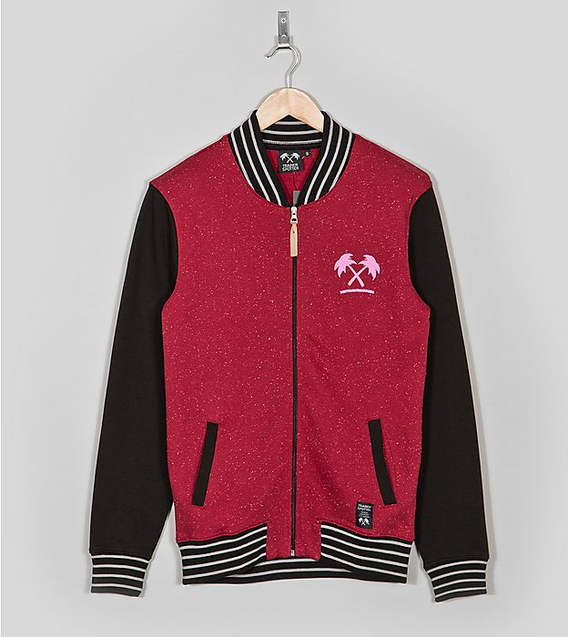 Trainerspotter Collegiate Jacket red body and black arms