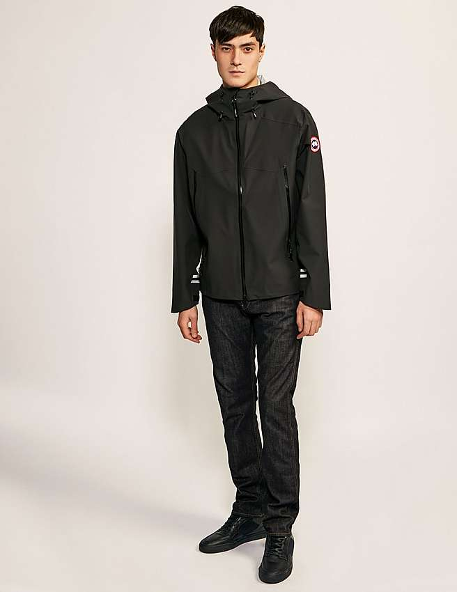 Canada Goose womens replica store - Black Canada Goose Canyon Shell Jacket | Tessuti