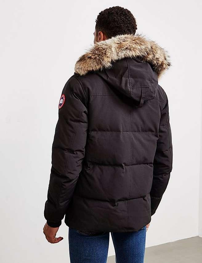 Canada Goose hats online store - Black Canada Goose Wyndham Parka | Tessuti